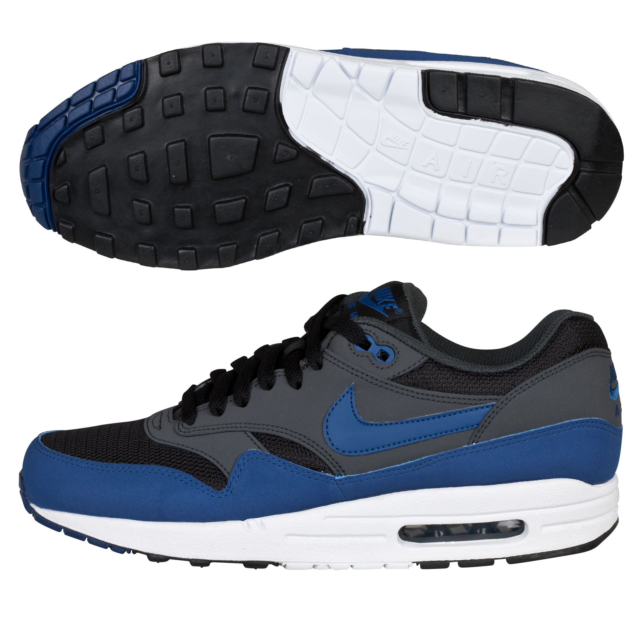 Nike Air Max 1 Trainers - Blue/Black