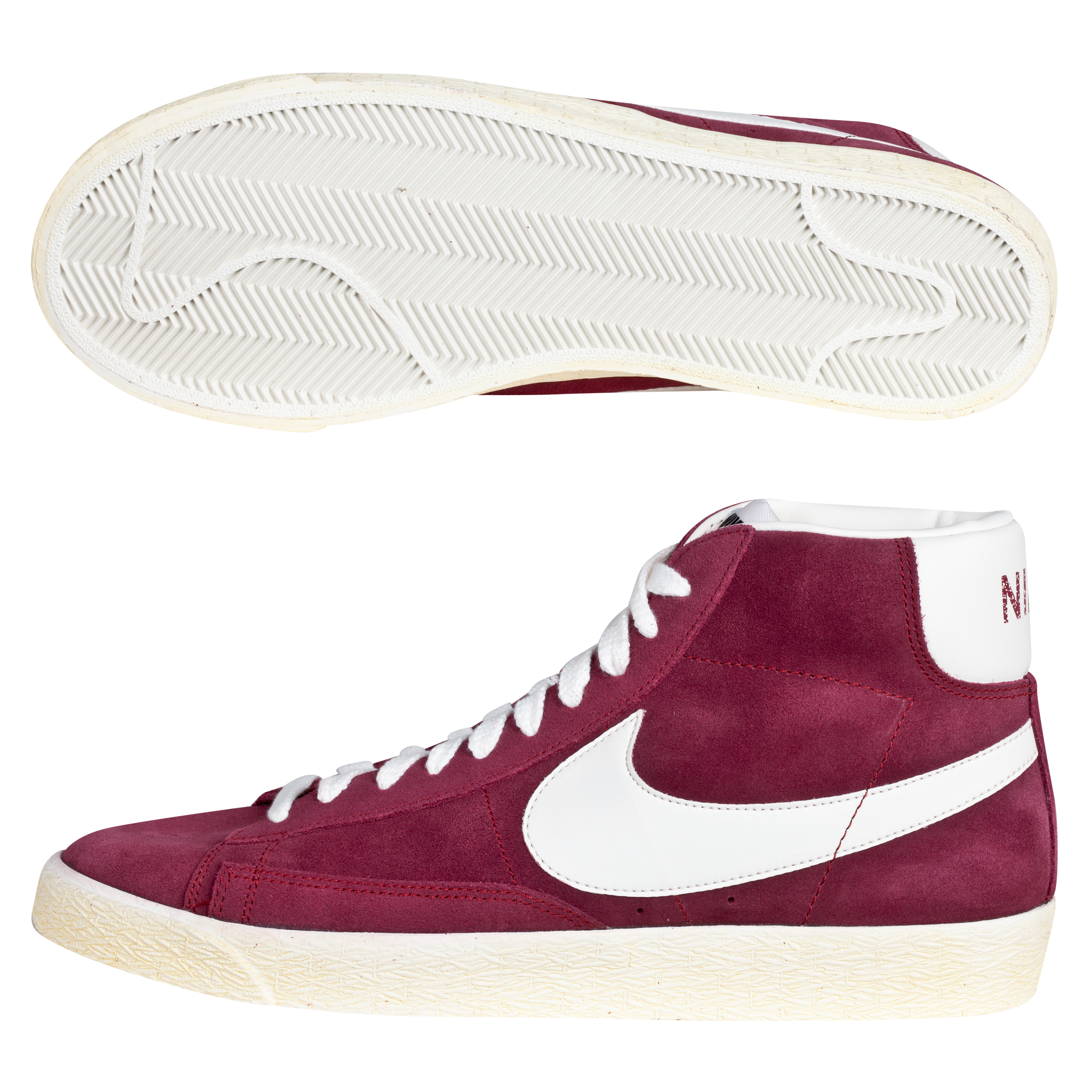 Nike Blazer Mid Vintage Suede Trainers - Team Red/Sail