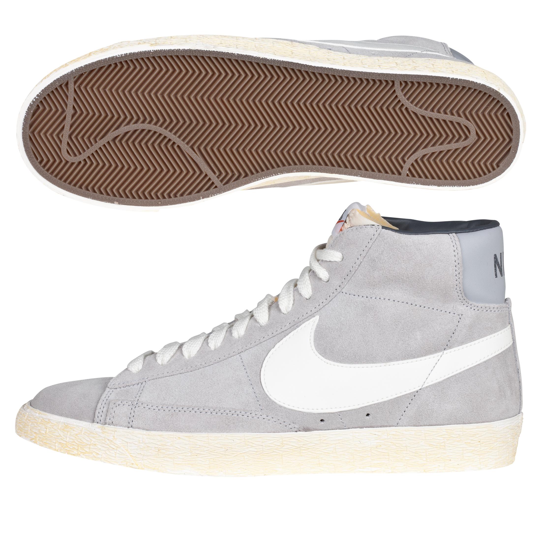 Nike Blazer Mid Vintage Suede Trainers - Medium Grey/Neutral Grey