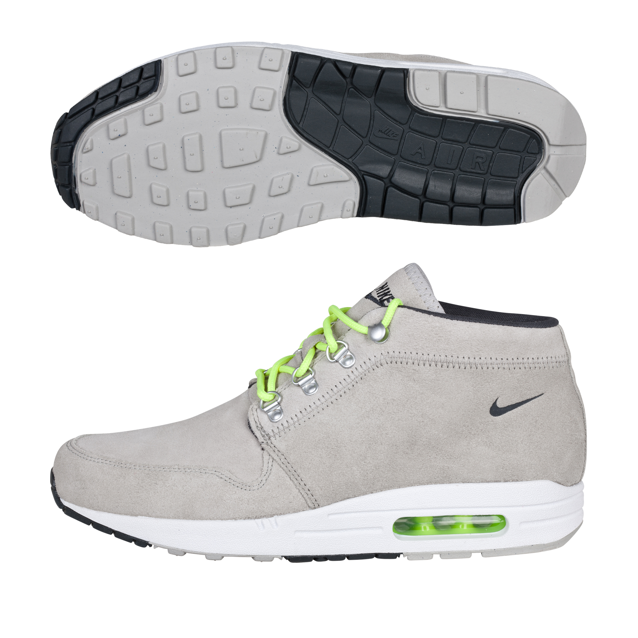 Nike Wardour Max 1 Trainers - Granite/Anthracite/Volt/White