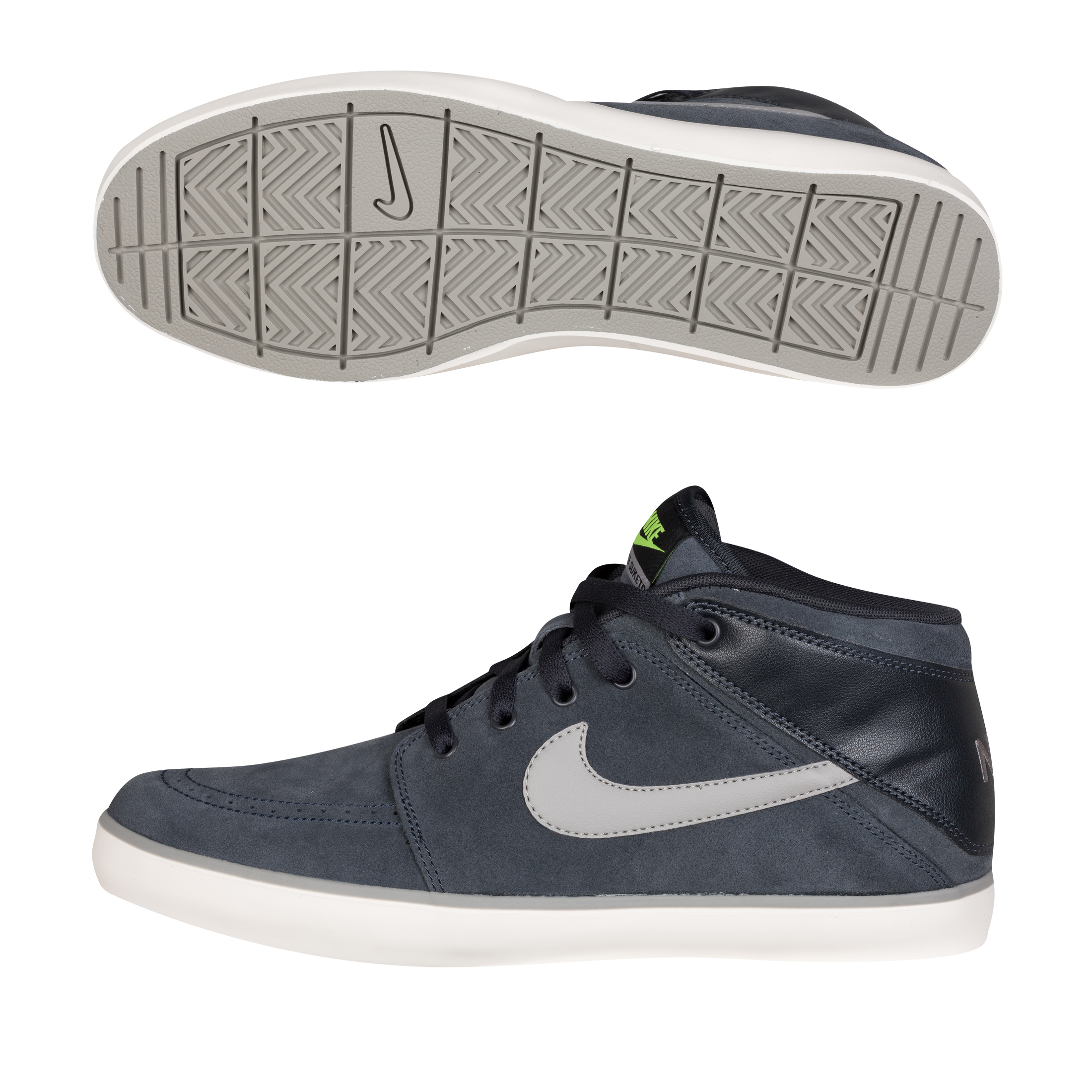 Nike Suketo Mid Leather Trainers - Anthracite/Medium Grey