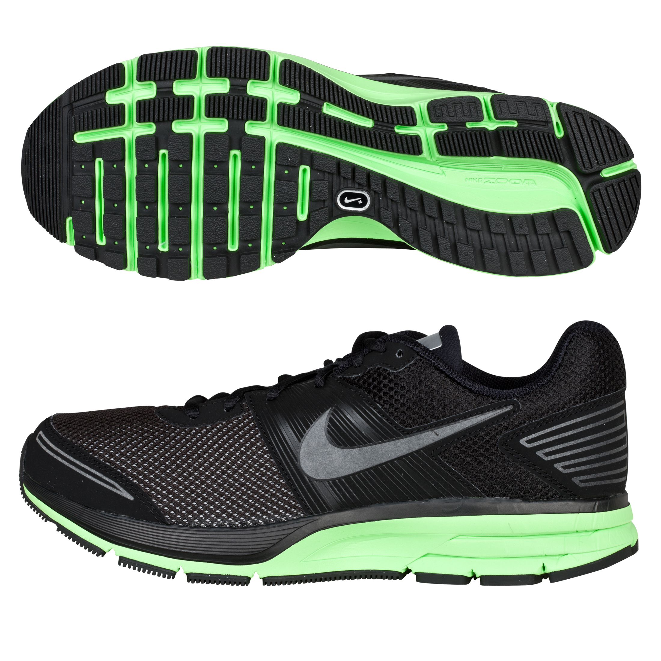 Nike Air Pegasus(+) 29 Shield Trainers - Black/Electric Green