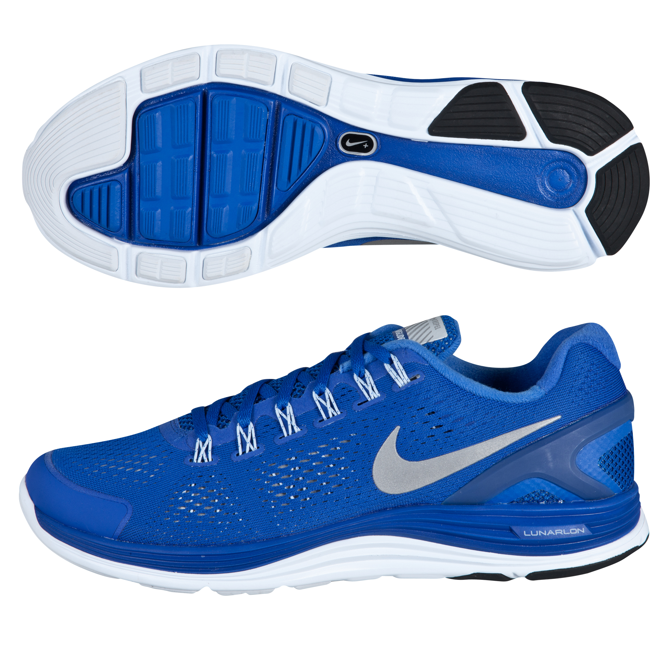 Nike Lunarglide+ 4 Shield Trainers - Game Royal/Metallic Silver