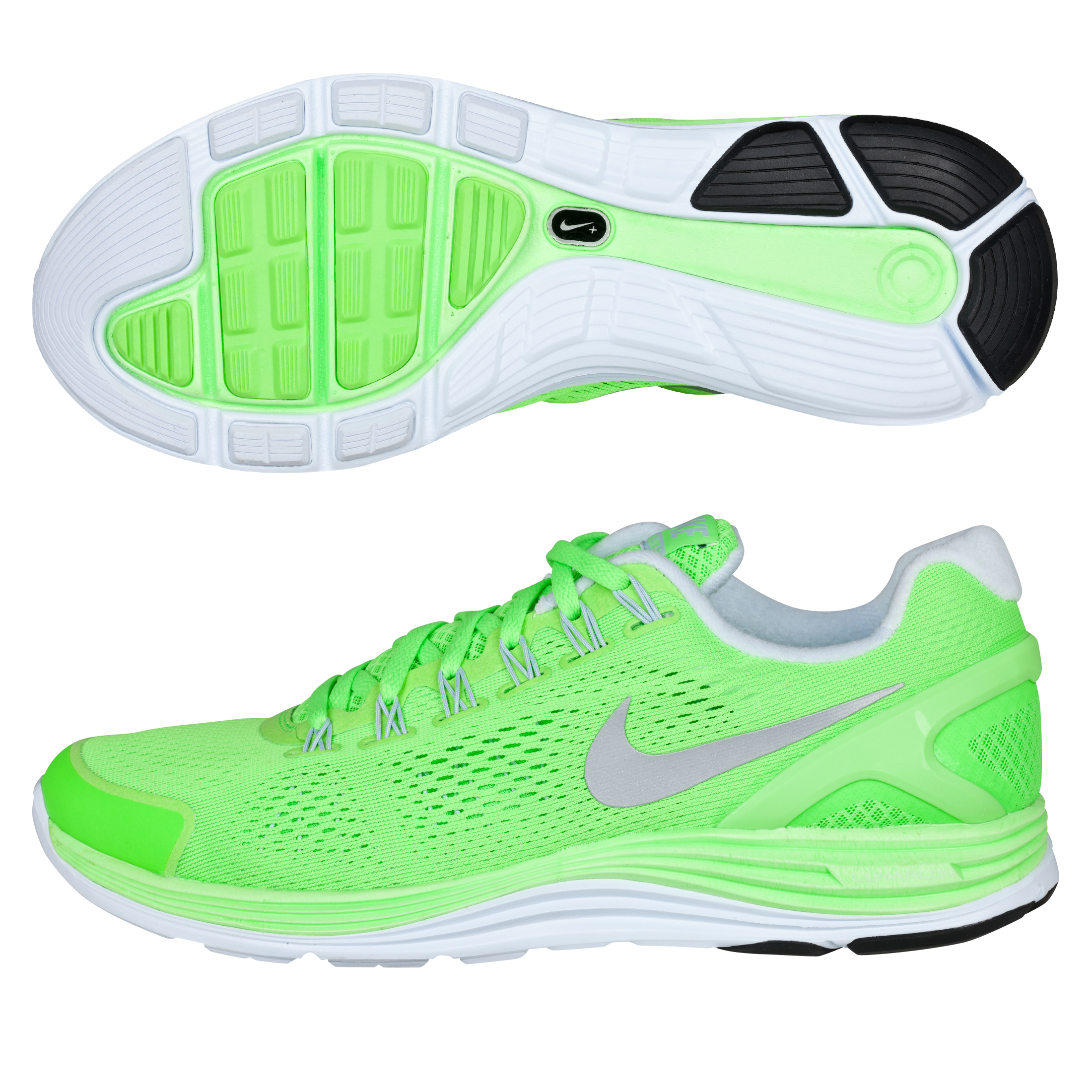 Nike Lunarglide+ 4 Trainers - Electric Green/Reflective Silver