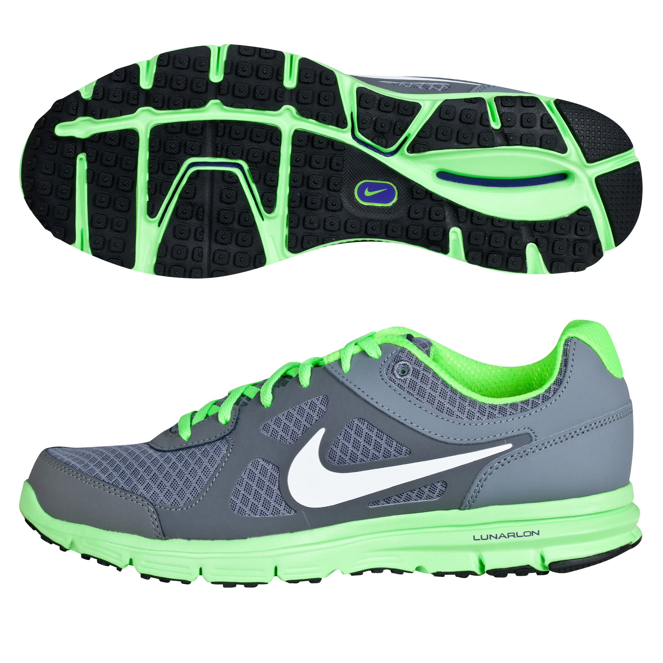 Nike Lunar Forever Trainers - Clear Grey/White/Electric Green