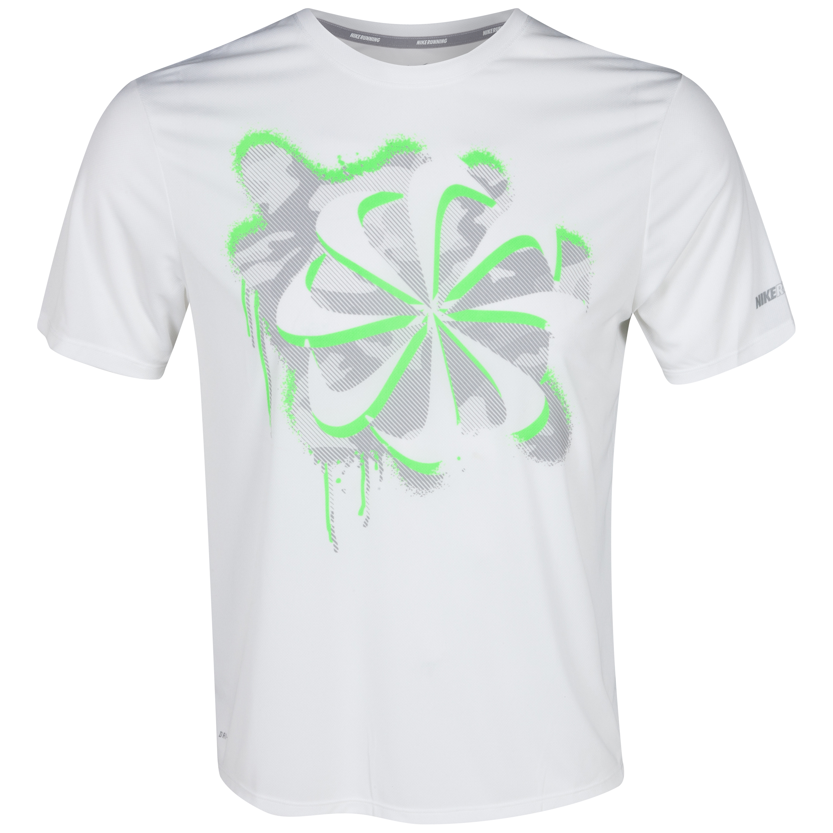 Nike Challenger Swoosh Run T-Shirt - Sequoia/Electric Green/Reflective Silver