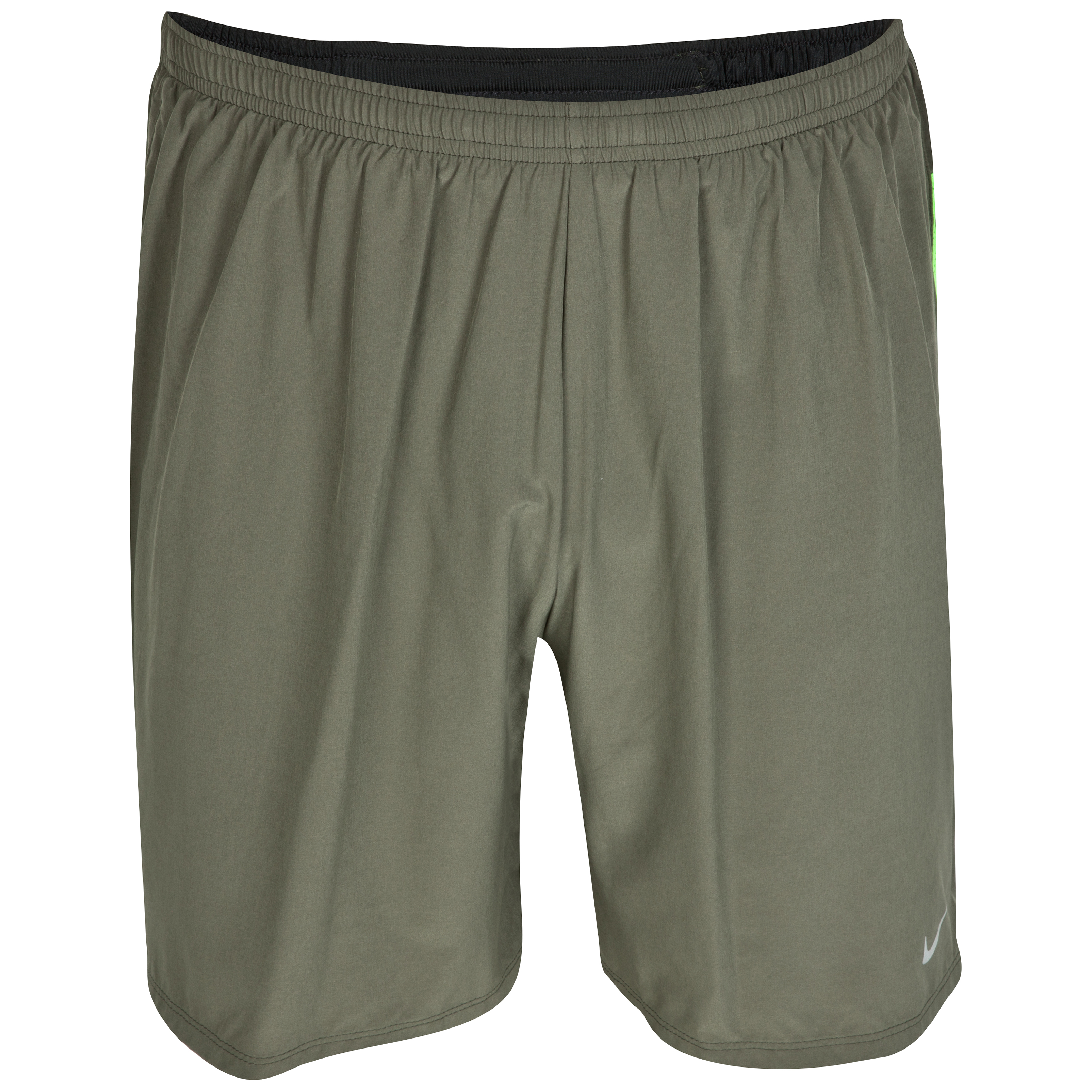 Nike 7inch Stretch Woven 2-in-1 Shorts - Sequoia/Electric Green/Reflective Silver