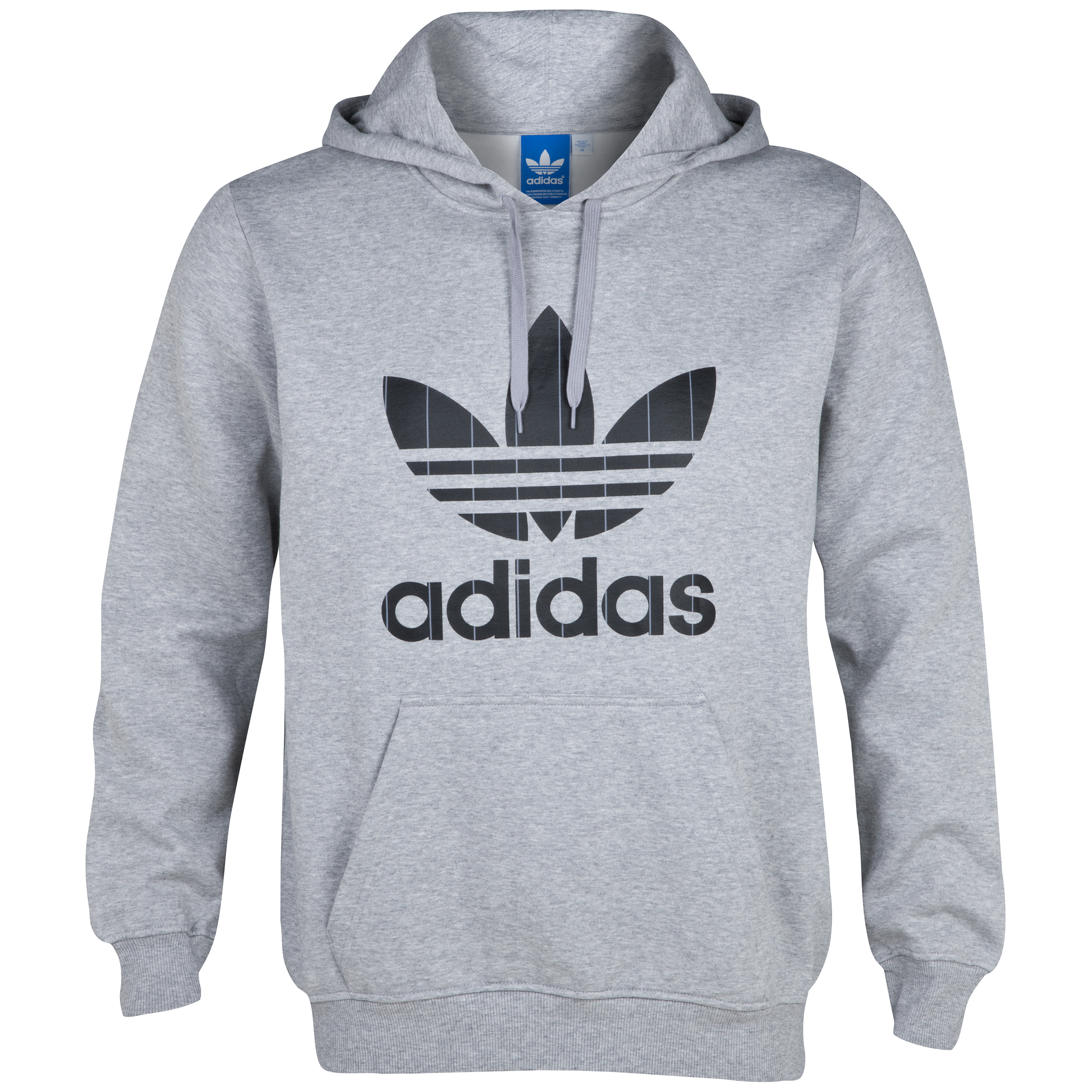 Originals Pinstripe Trefoil Hood - Medium Grey Heather