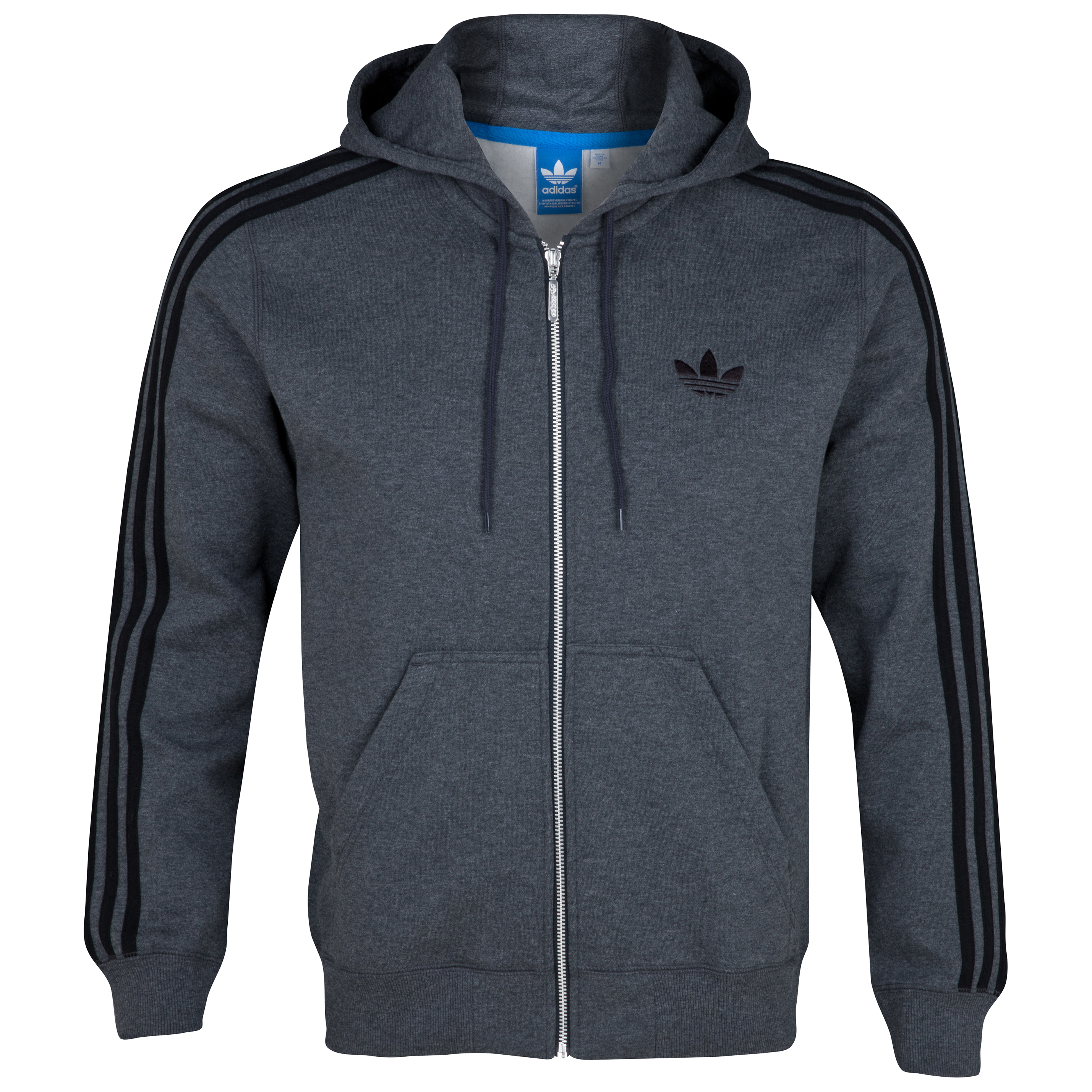 Originals Sweat Hooded Flock FZ - Dark Grey Heather