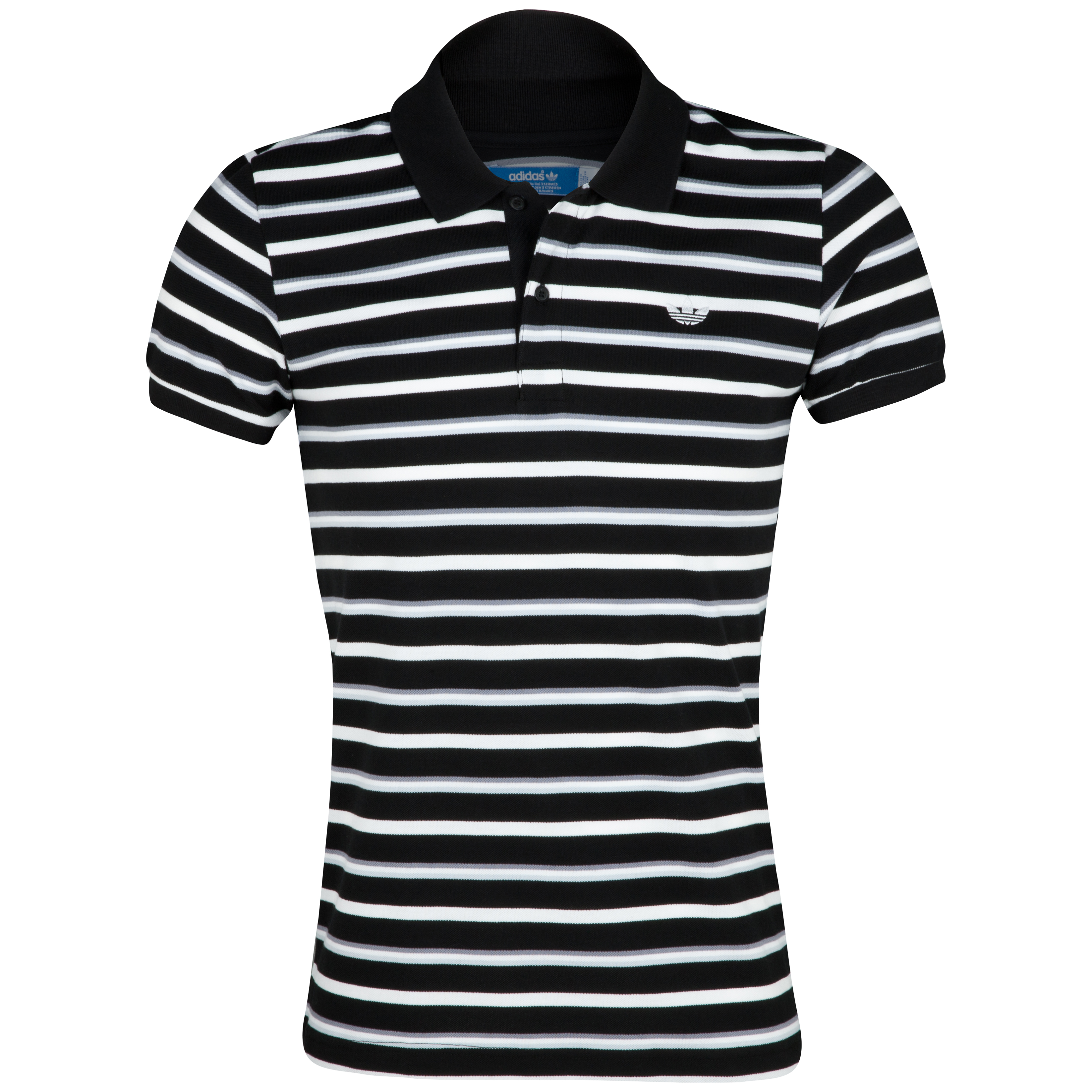 Originals Striped Polo - Black