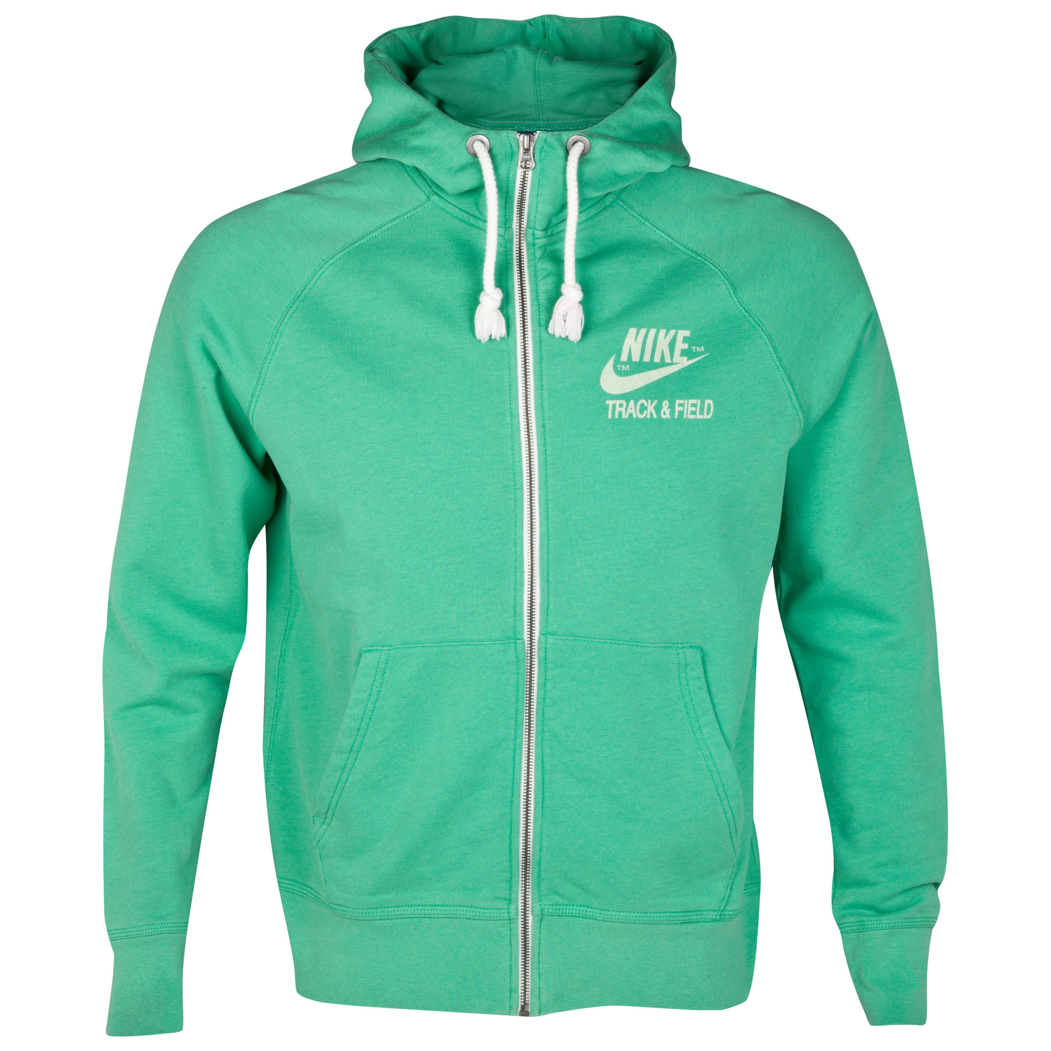 Nike NTandF Graphic AW77 Full Zip Hoody - Stadium Green/Sail