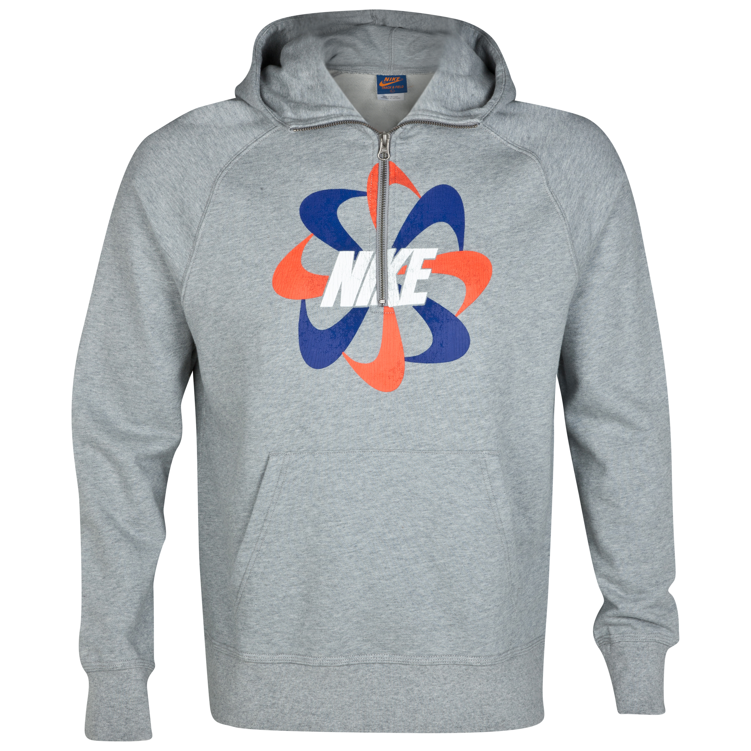 Nike Running Pinwheel Half Zip Hoody - Dark Grey Heather