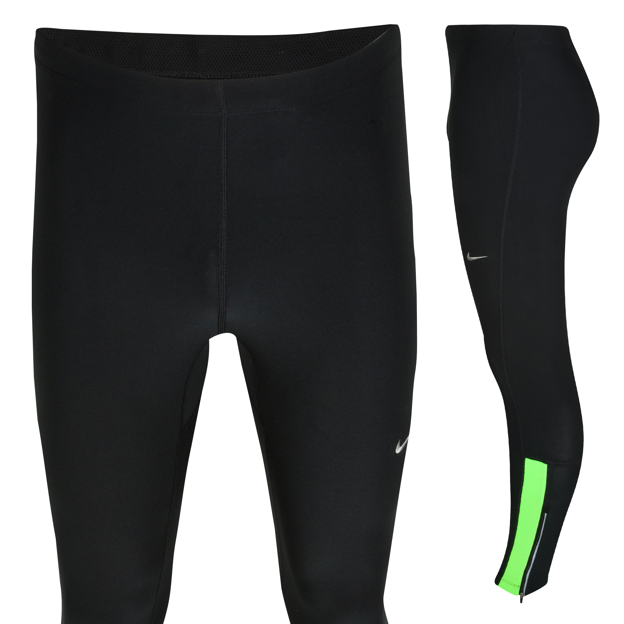 Nike Filament Tights - Black/Electric Green/Matte Silver