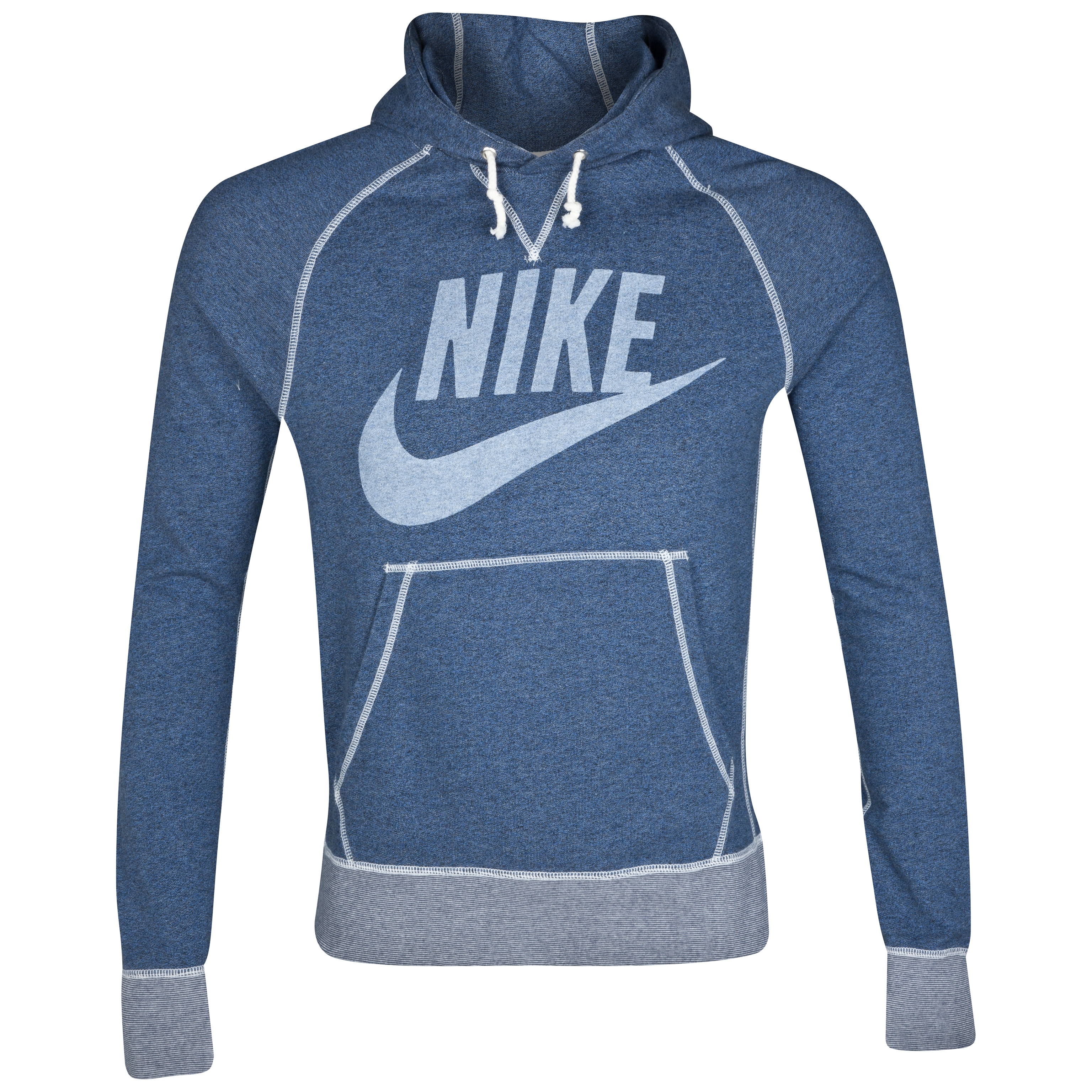 Nike Vintage Marl Logo Hoody - Monsoon Blue Heather/Sail