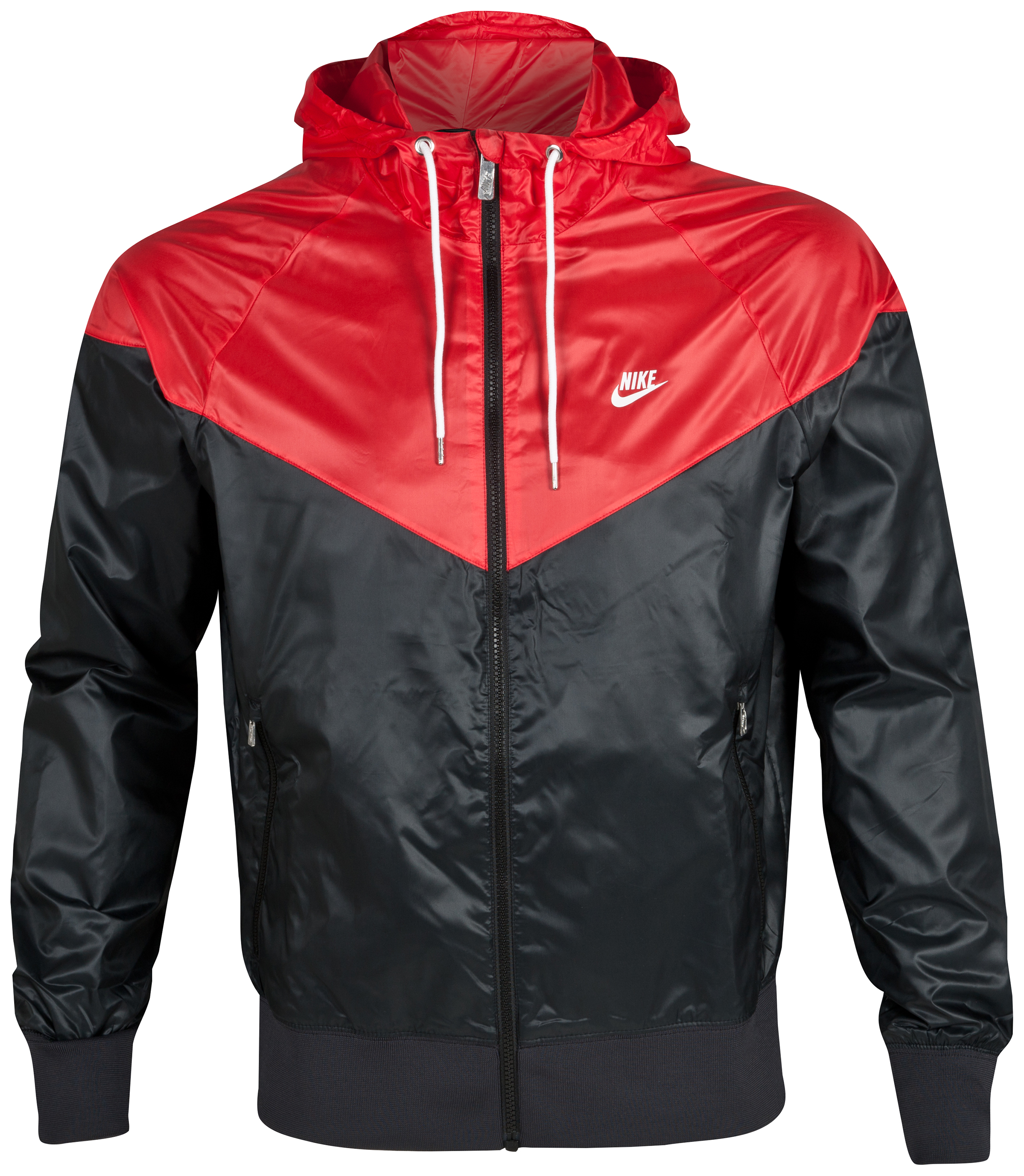 Nike Windrunner Jacket - Black/Gym Red/White