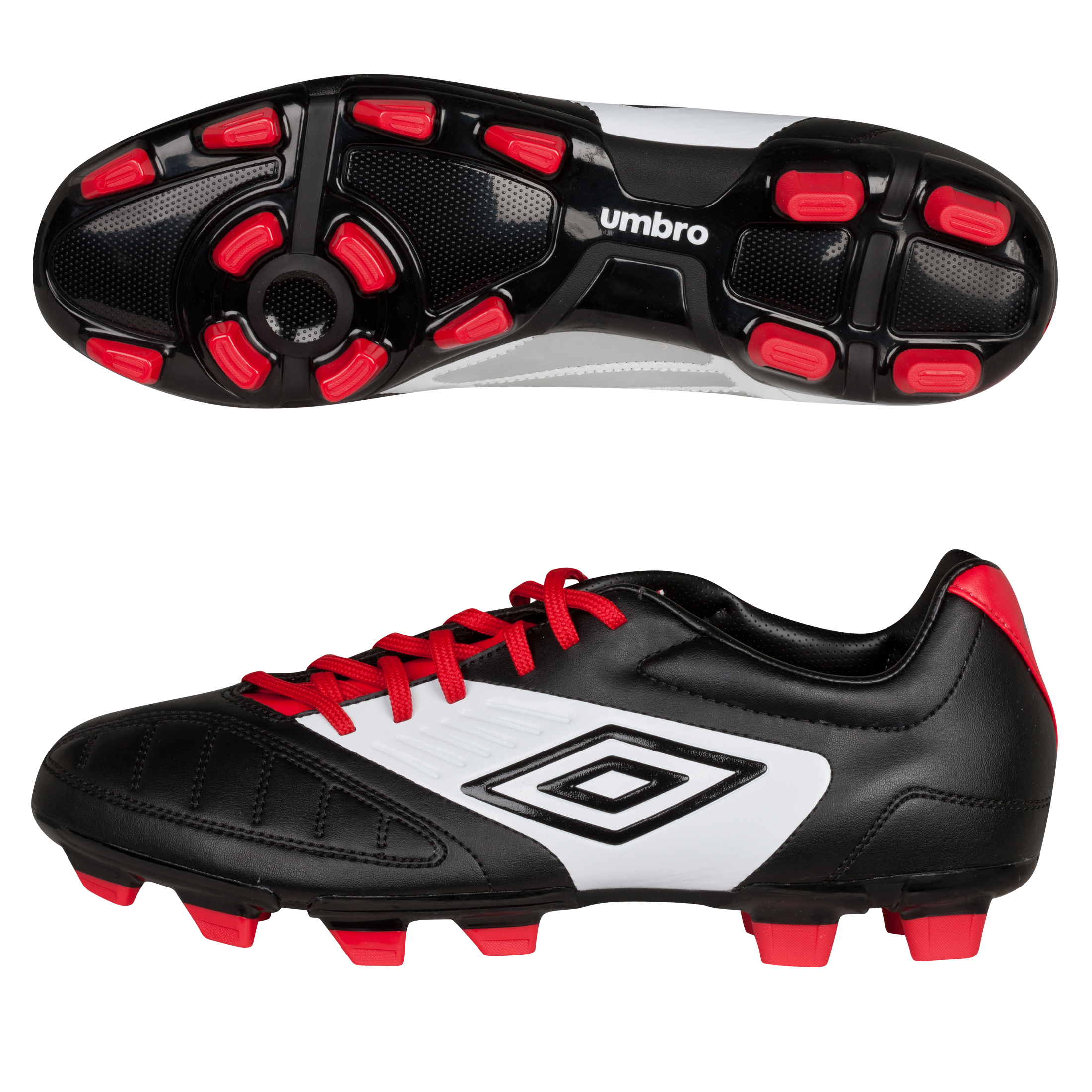 Geometra Cup FG Black/White/True Red