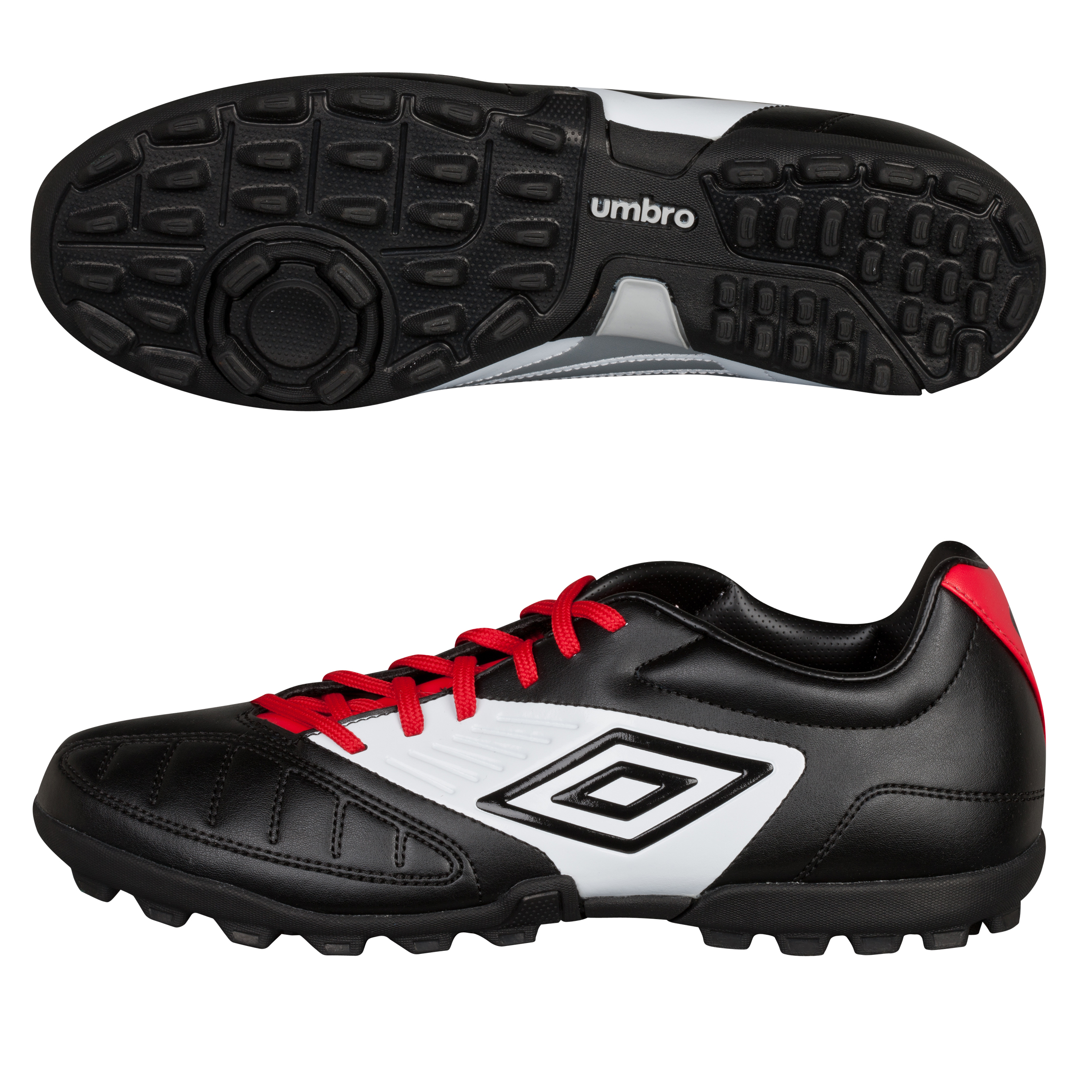 Umbro Geometra Cup Astroturf Trainers - Black/White/True Red