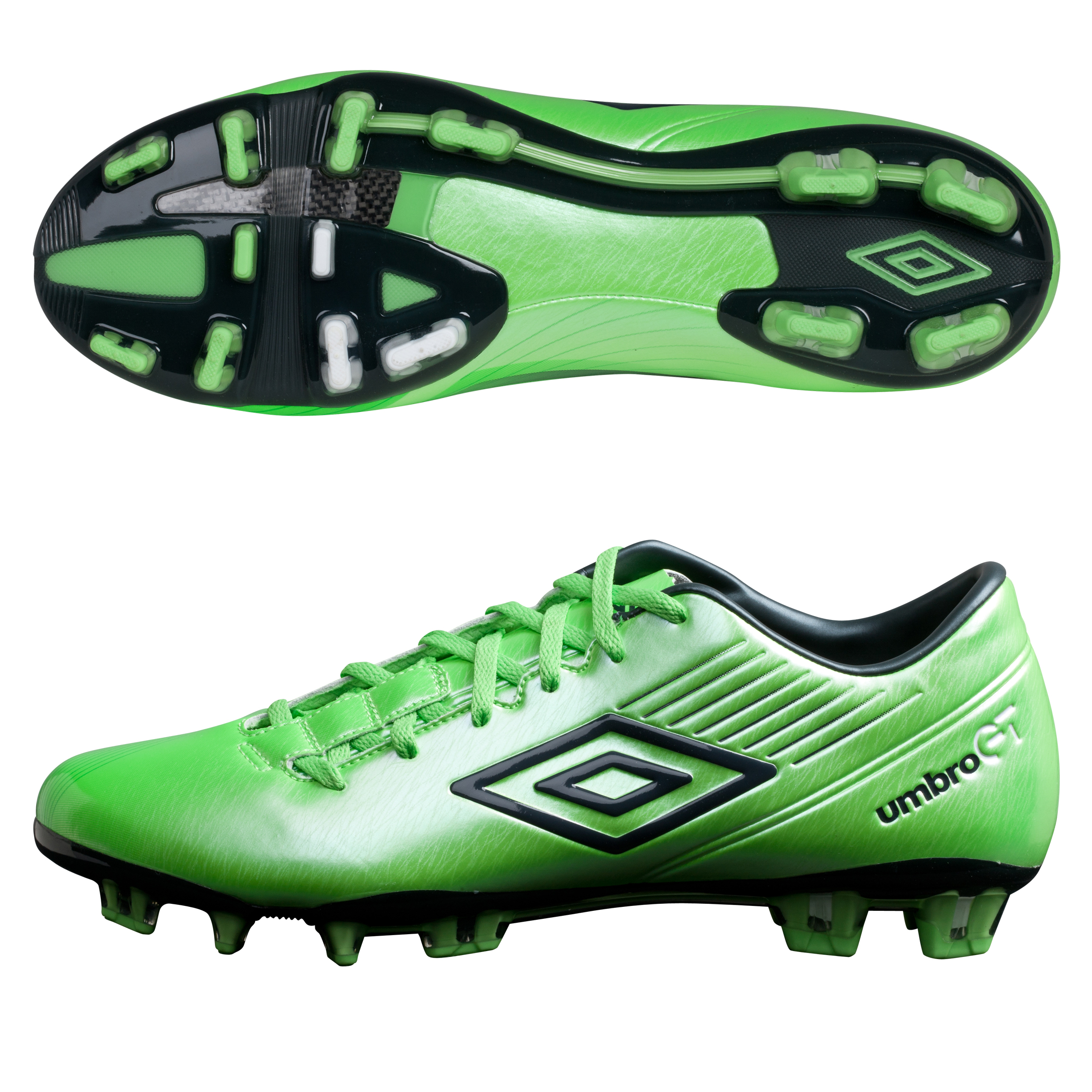 Umbro GT ll Pro Firm Ground Football Boots - Summer Green/Carbon/White