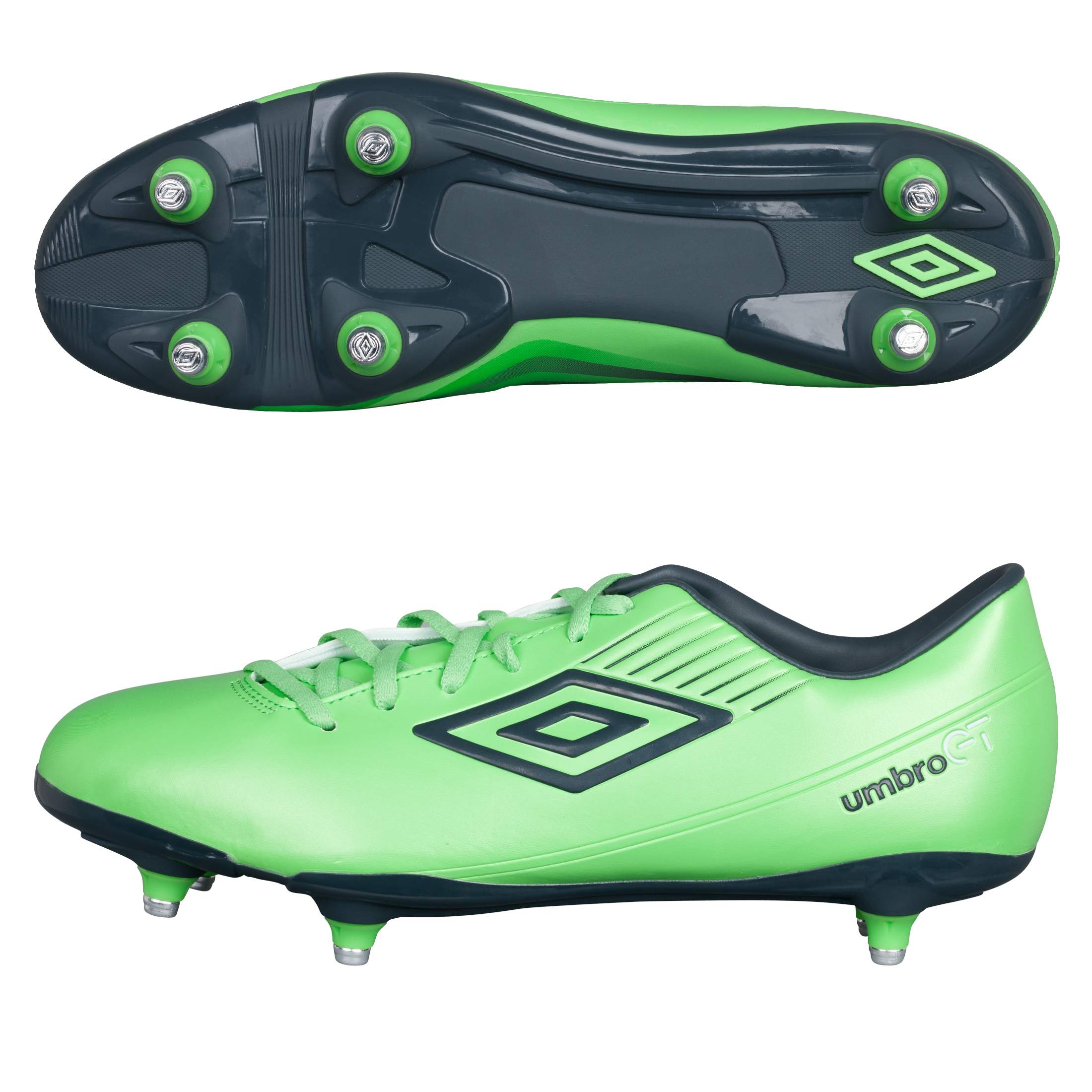 Umbro GT ll Cup Soft Ground Football Boots - Summer Green/Carbon/White