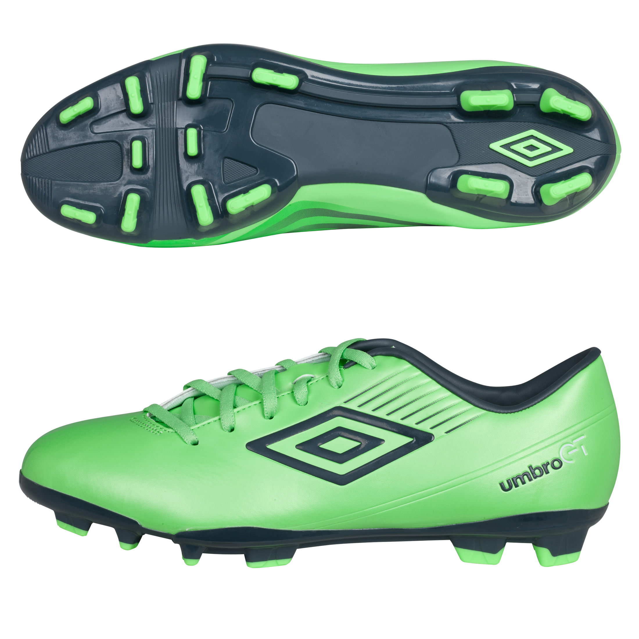 Umbro GT ll Cup Fim Ground Football Boots - Summer Green/Carbon/White