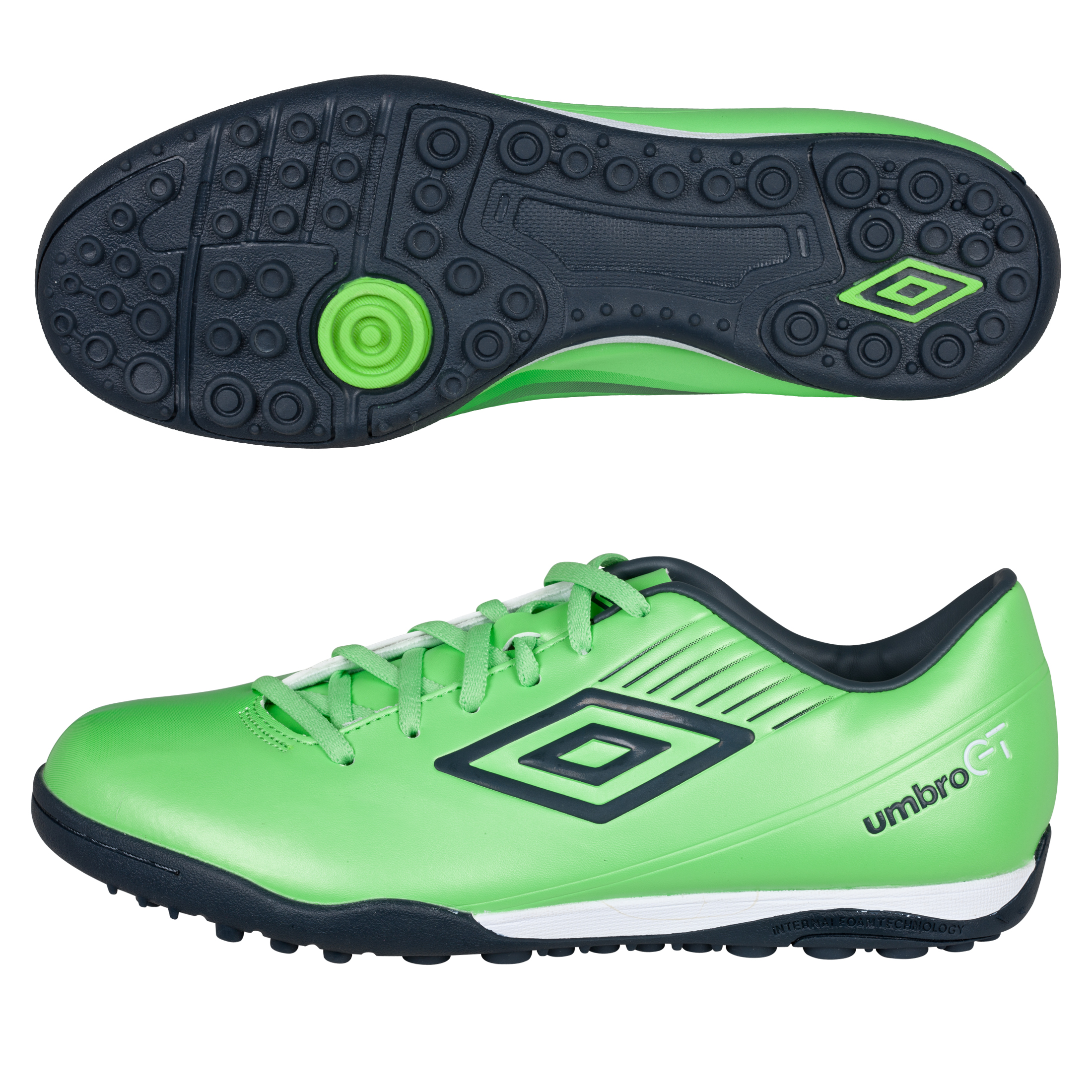 Umbro GT ll Cup Astroturf Trainers - Summer Green/Carbon/White