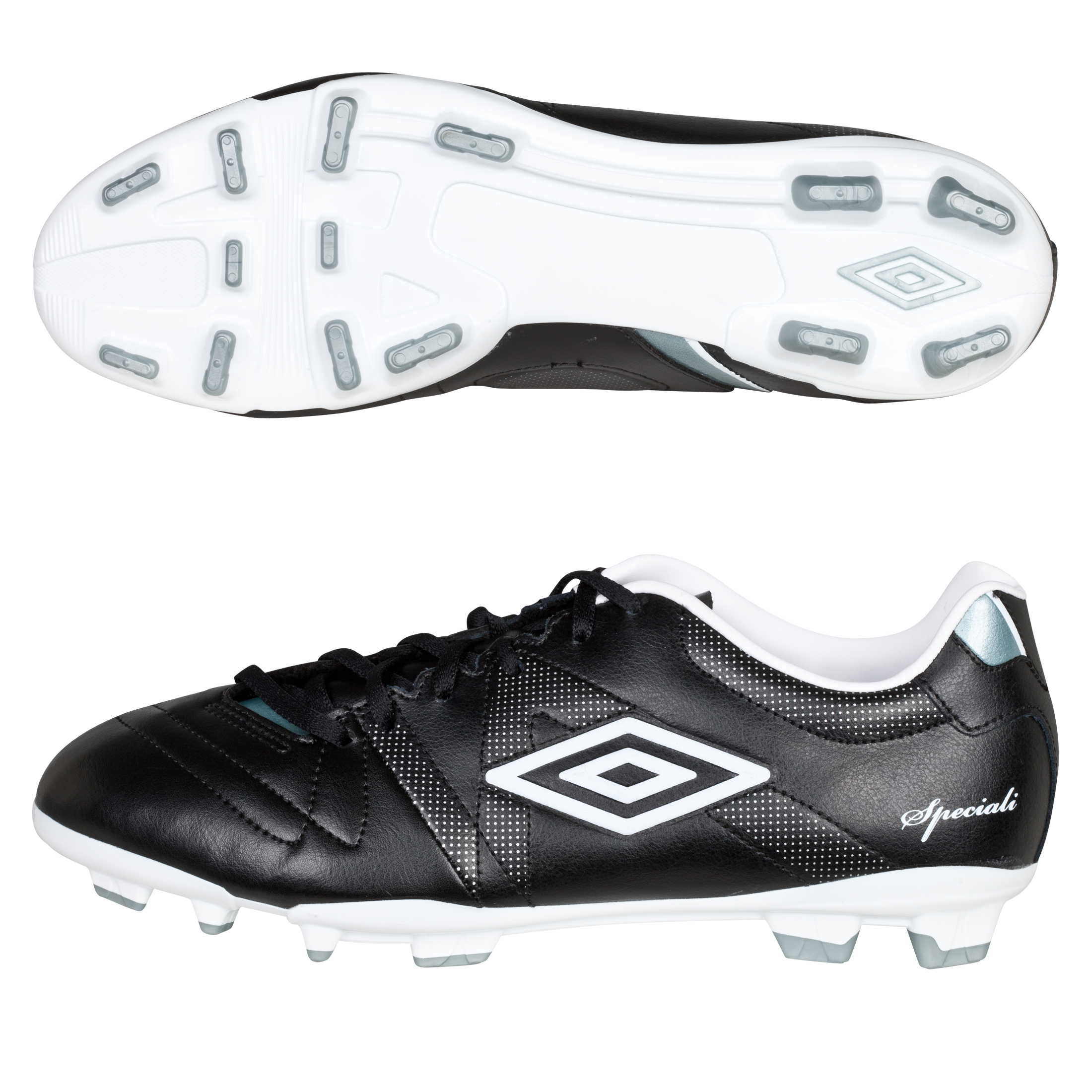 Umbro Speciali 3 Cup Firm Ground Football Boots - Black/White/Chrome