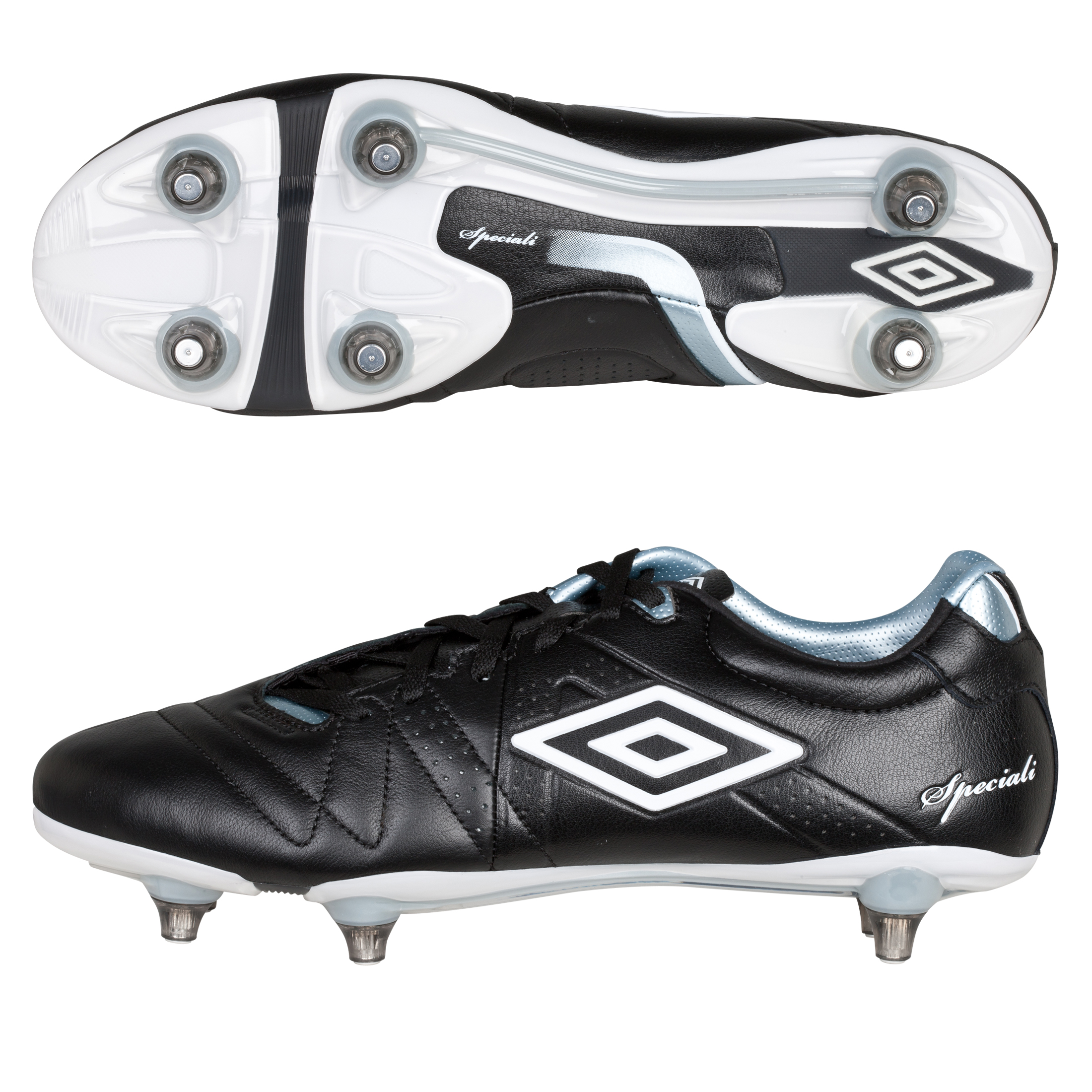 Umbro Speciali 3 Pro Soft Ground Football Boots - Black/White/Chrome