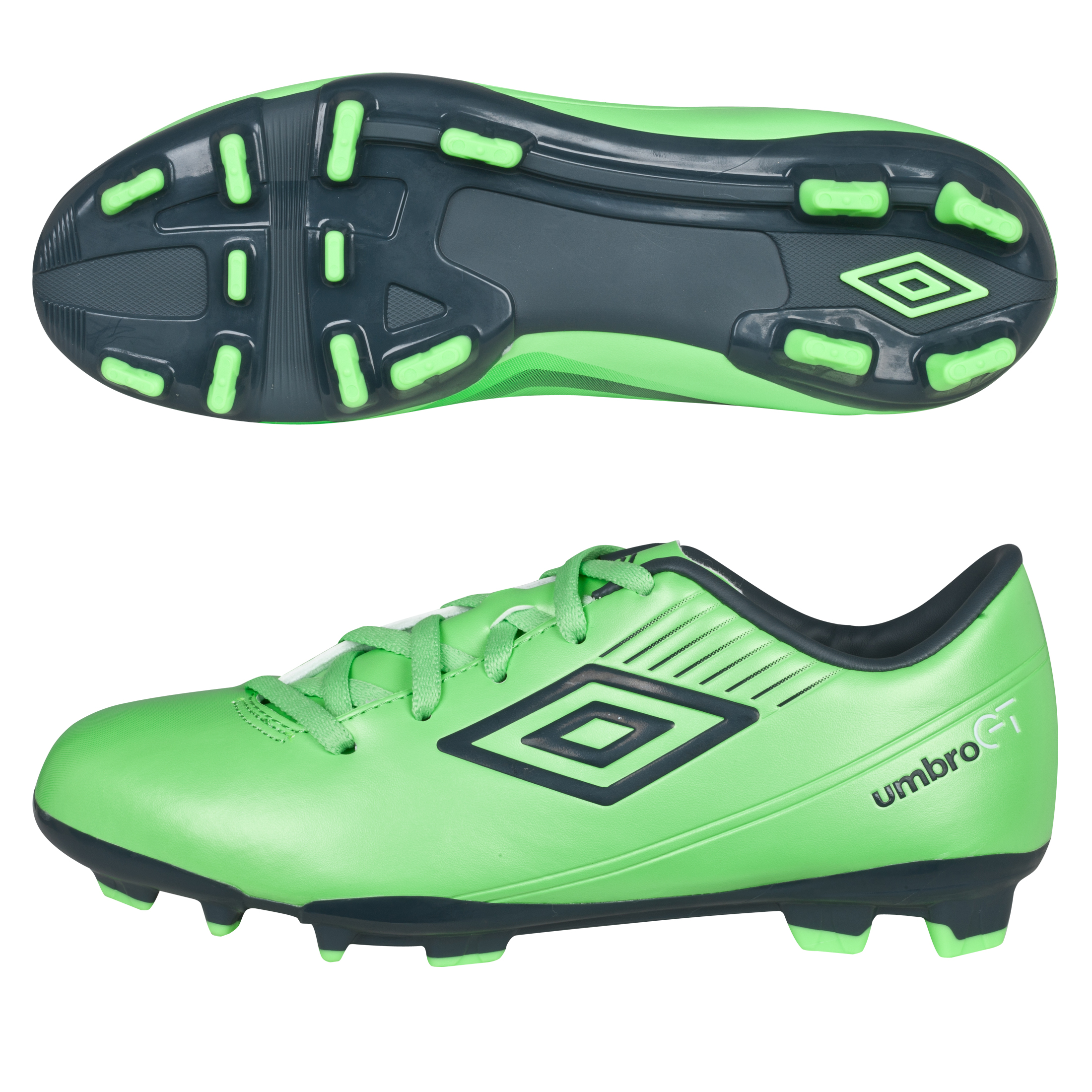 Umbro GT ll Cup Firm Ground Football Boots - Summer Green/Carbon/White - Kids