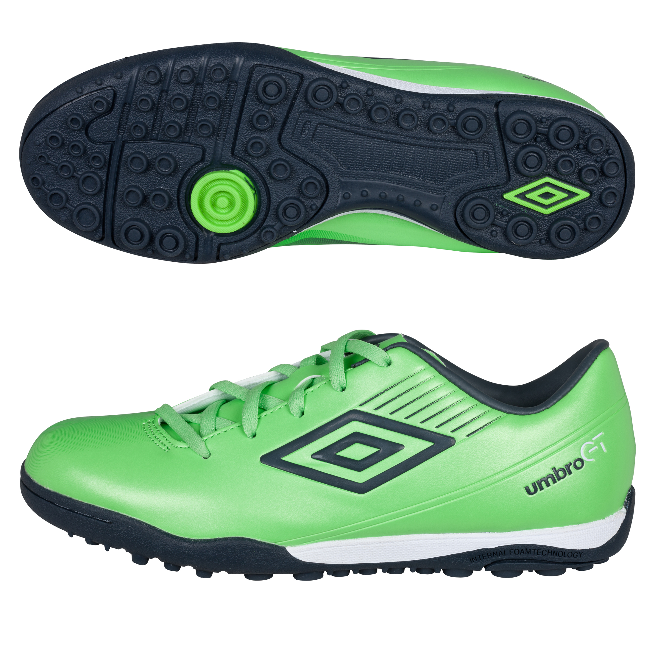 Umbro GT ll Cup Astroturf Trainers - Summer Green/Carbon/White - Kids