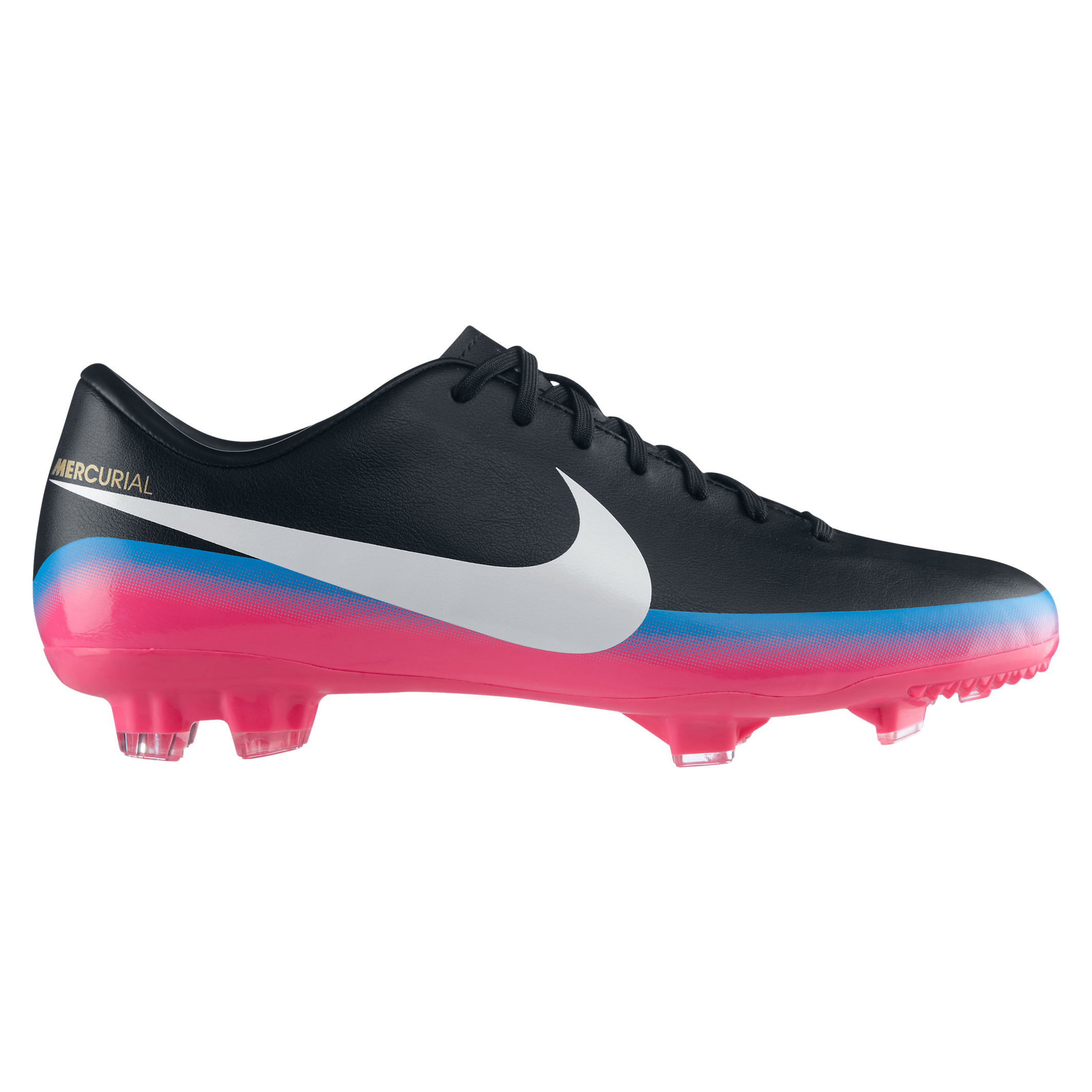 Nike Mercurial Victory III CR7 Firm Ground Football Boots - Black/White/Blue Glow/Pink Flash