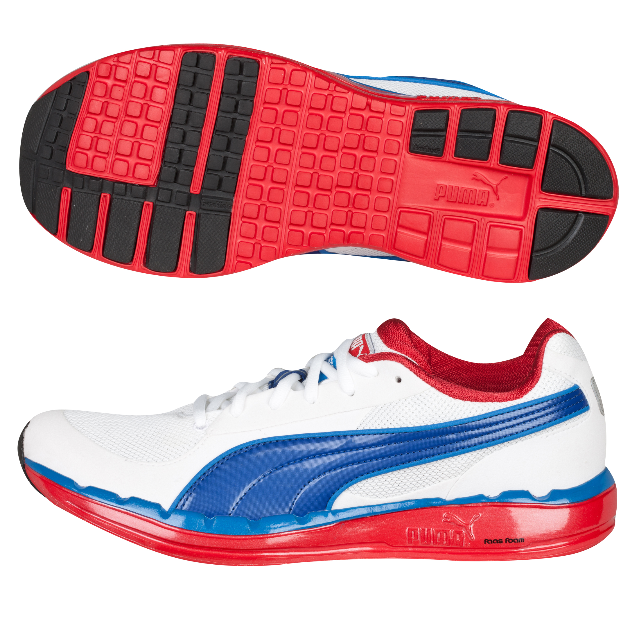Puma Faas 500 Running Trainers - White/Ribbon Red/Limoges