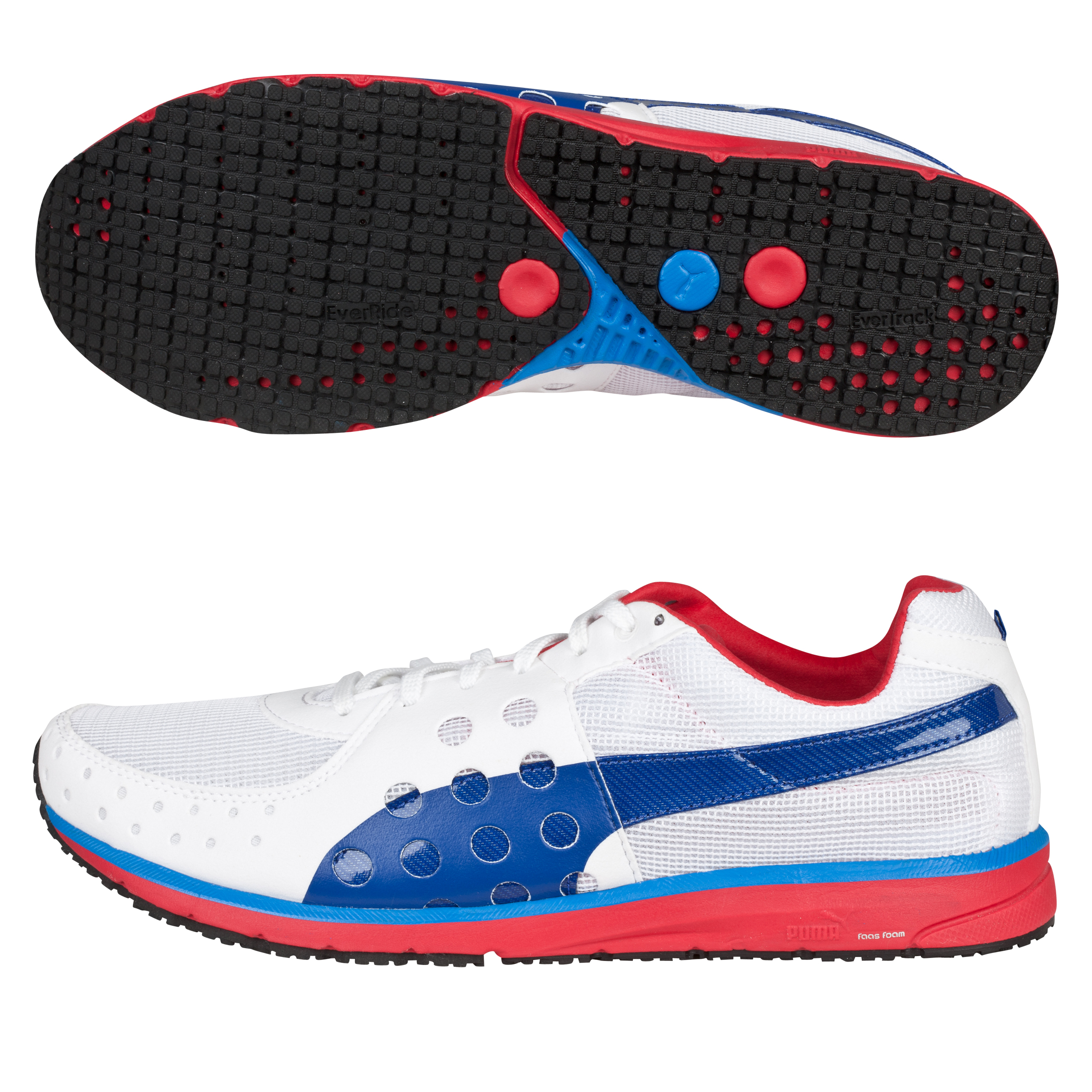 Puma Faas 300 Running Trainers - White/Ribbon Red/Limoges