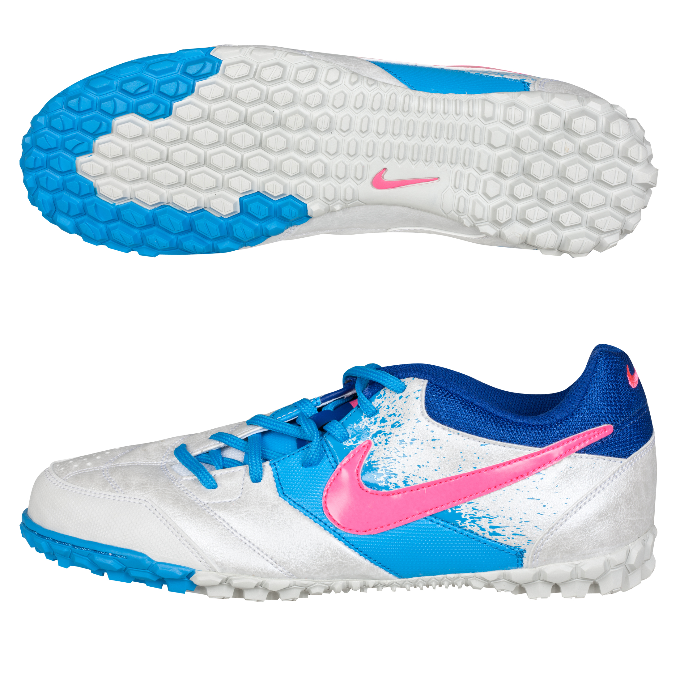Nike5 Bomba Trainers - White/Pink Flash/Blue Glow