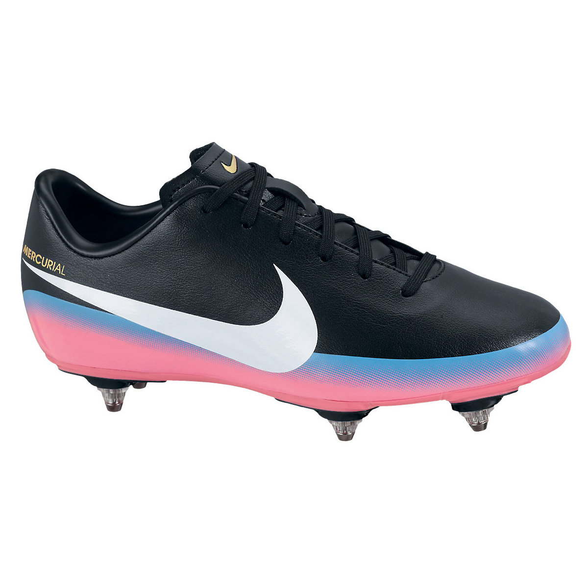 Nike Mercurial Victory III CR7 Soft Ground Football Boots - Black/White/Blue Glow/Pink Flash - Kids