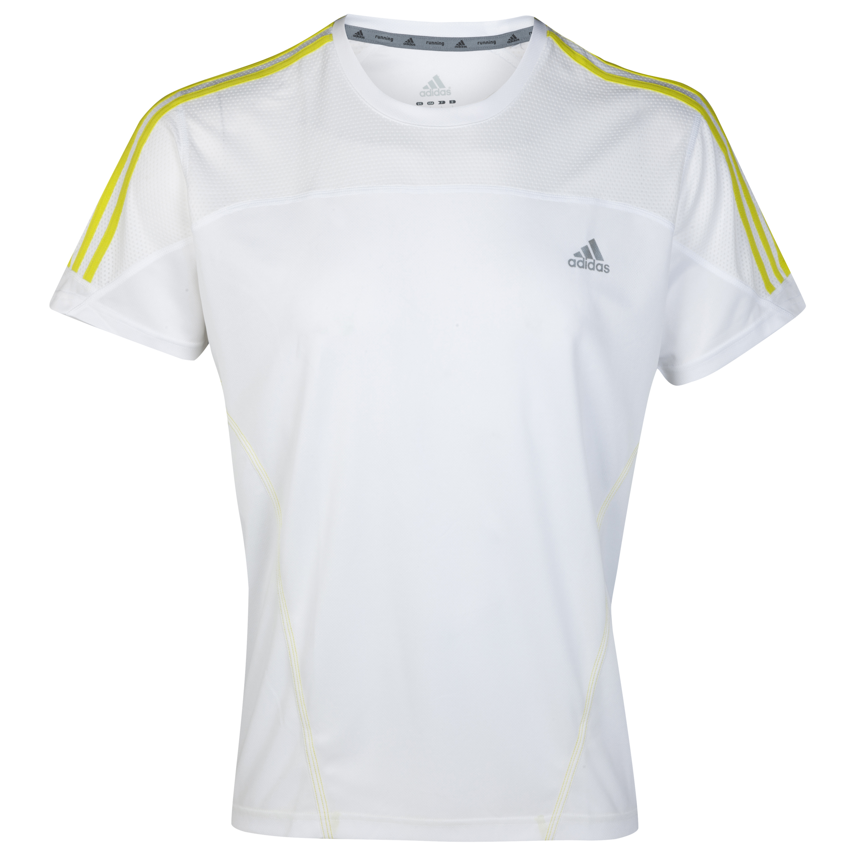 Adidas Response DS T-Shirt - White/Lab Lime
