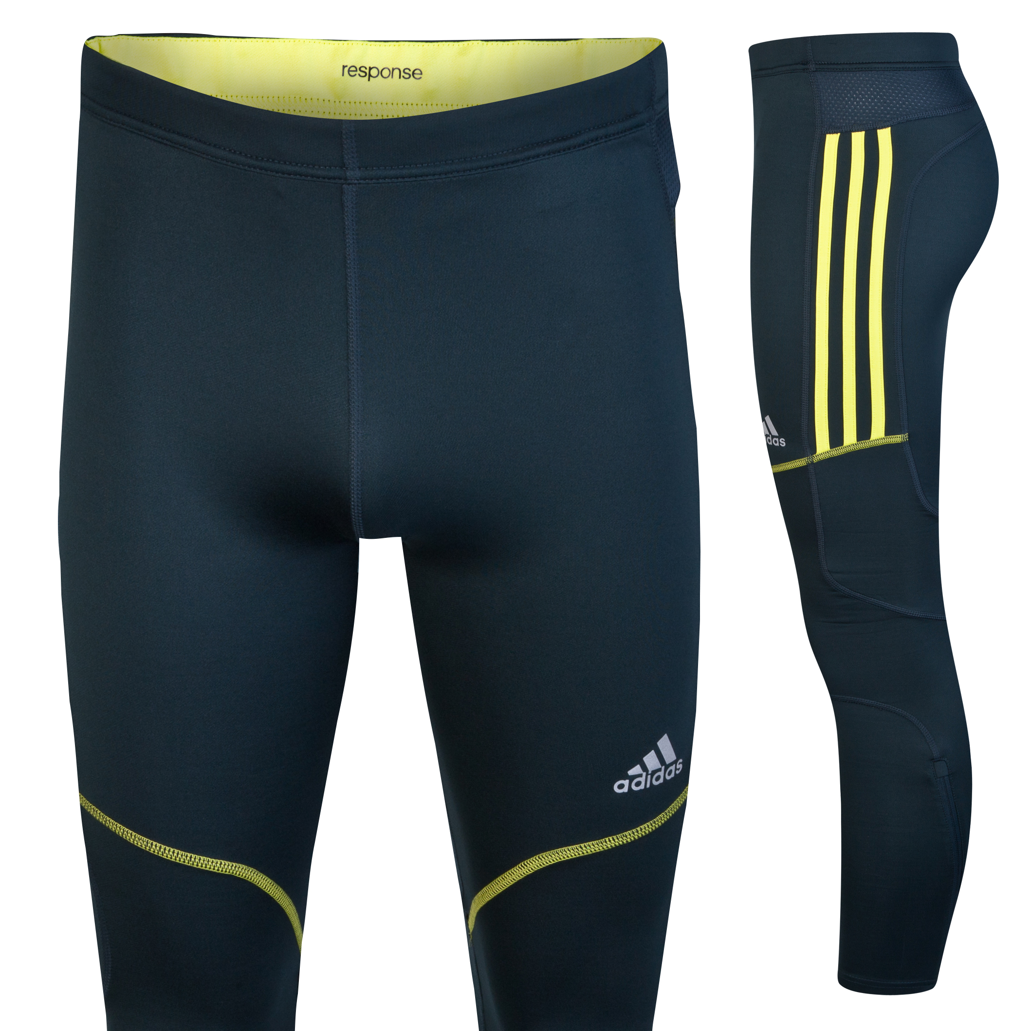 Adidas Response DS Long Tights - Tech Onix/Lab Lime