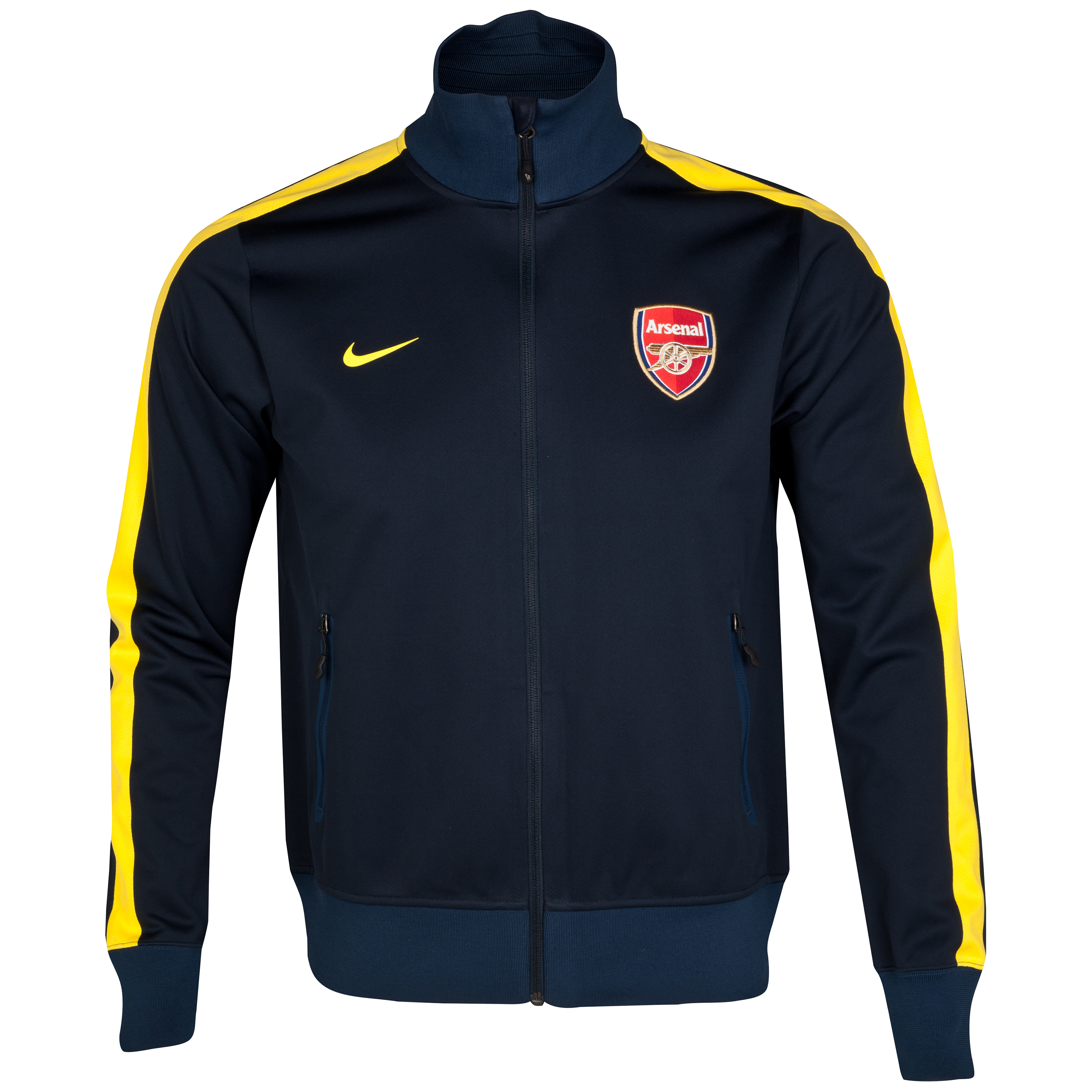 Arsenal Authentic UEFA Champions League N98 Jacket - Dark Obsidian/Tour Yellow
