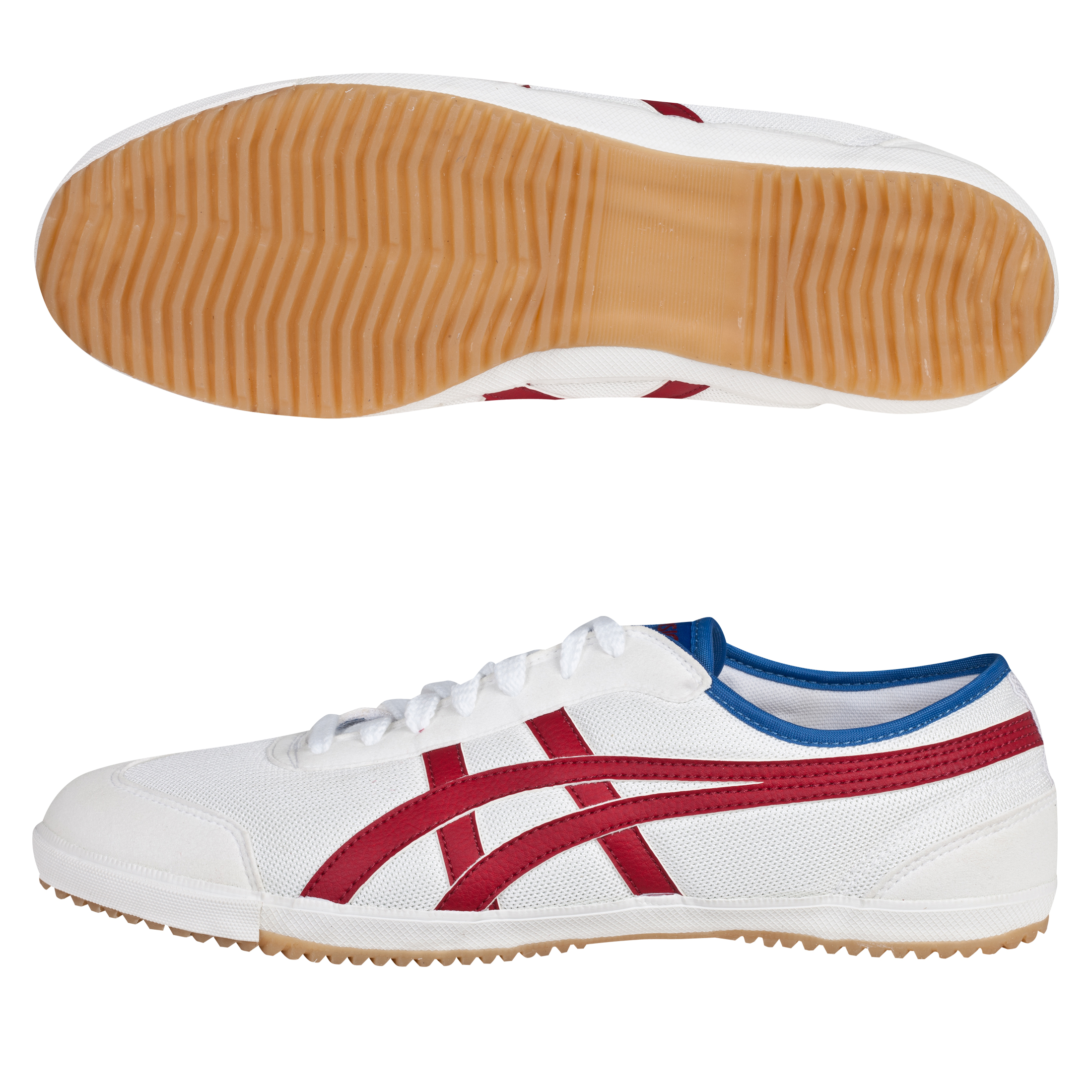 Asics Retro Rocket Trainers - White/Burgundy