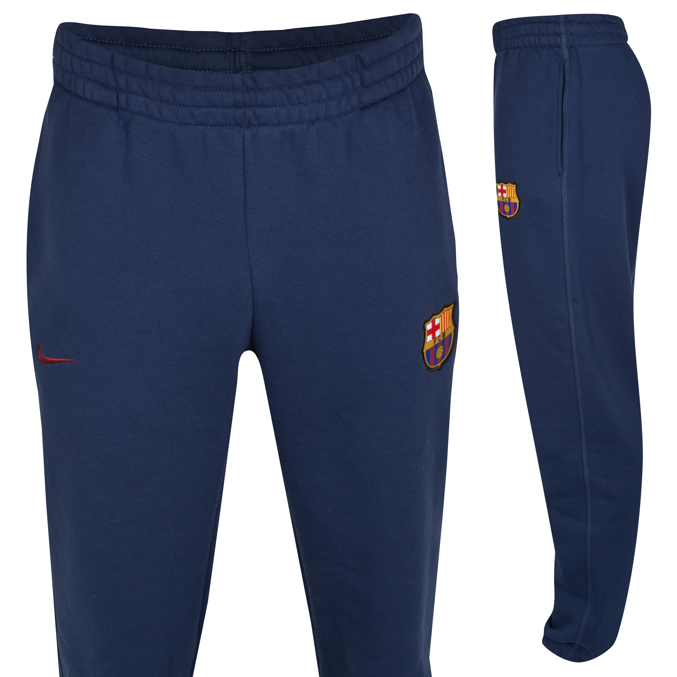 Barcelona Core Fleece Cuff Pant - Midnight Navy/Stormred