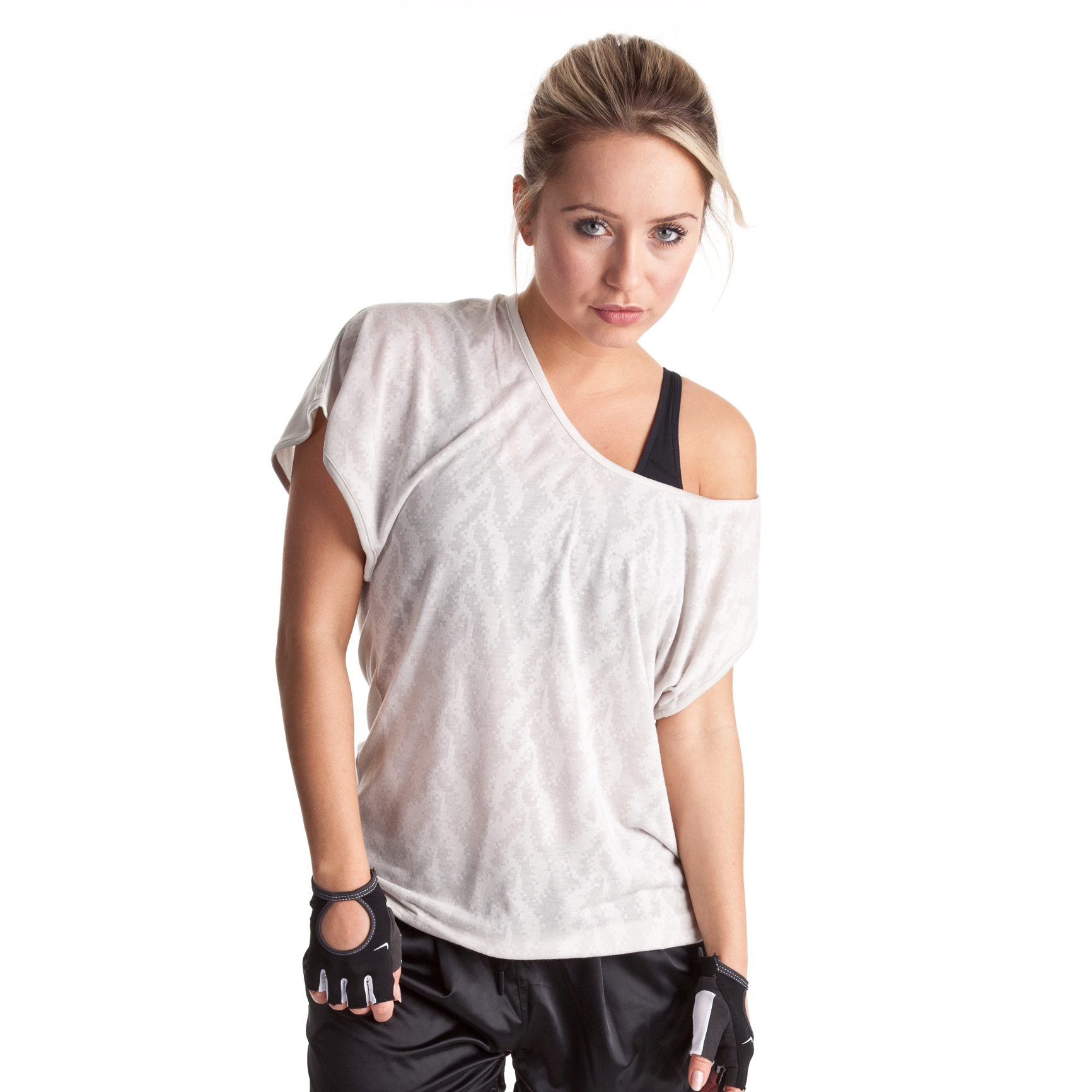 Nike Sweet Burnout T-Shirt - Light Bone/Matte Silver - Womens