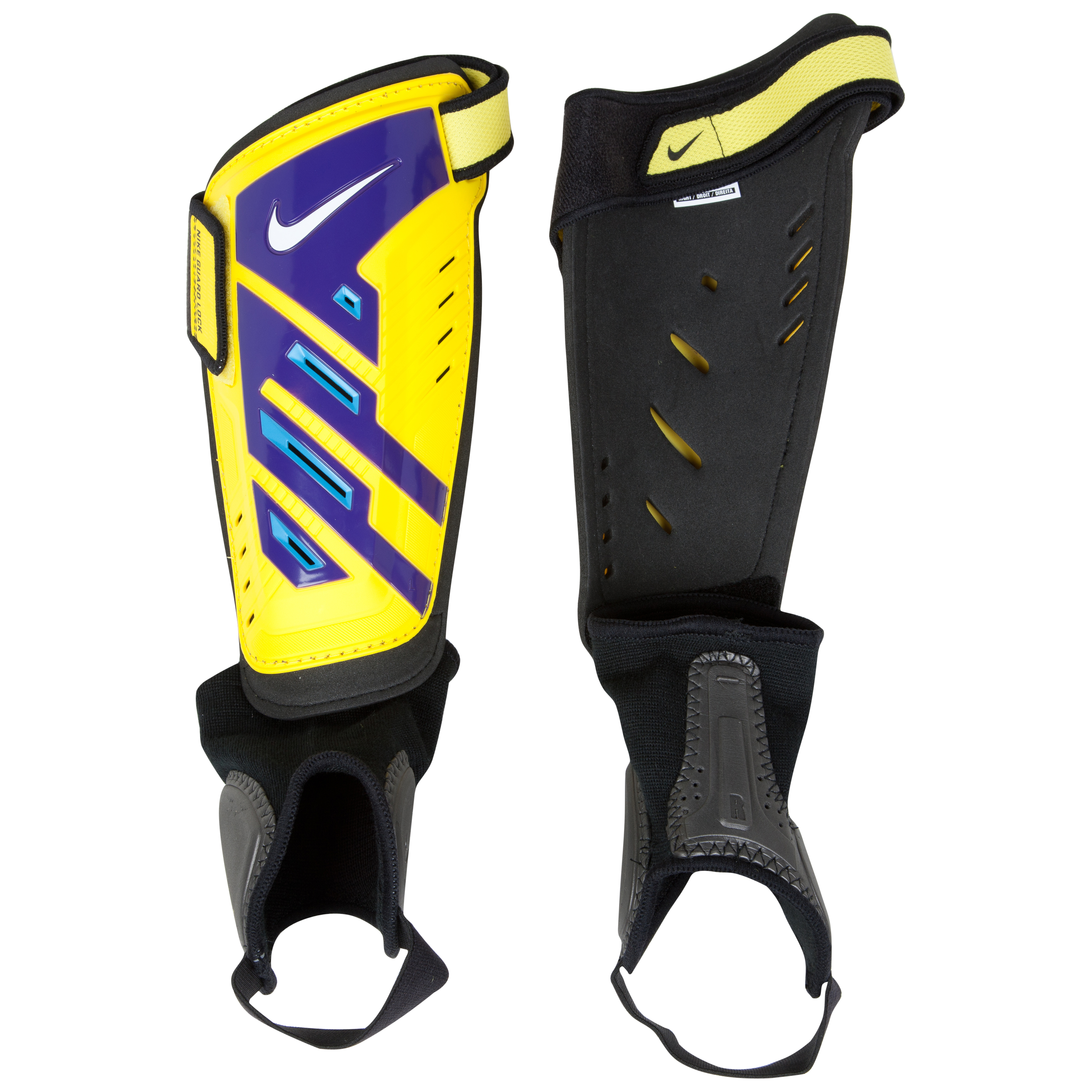 Nike Protegga Shield Shin Pads - Yellow/Purple/(White)