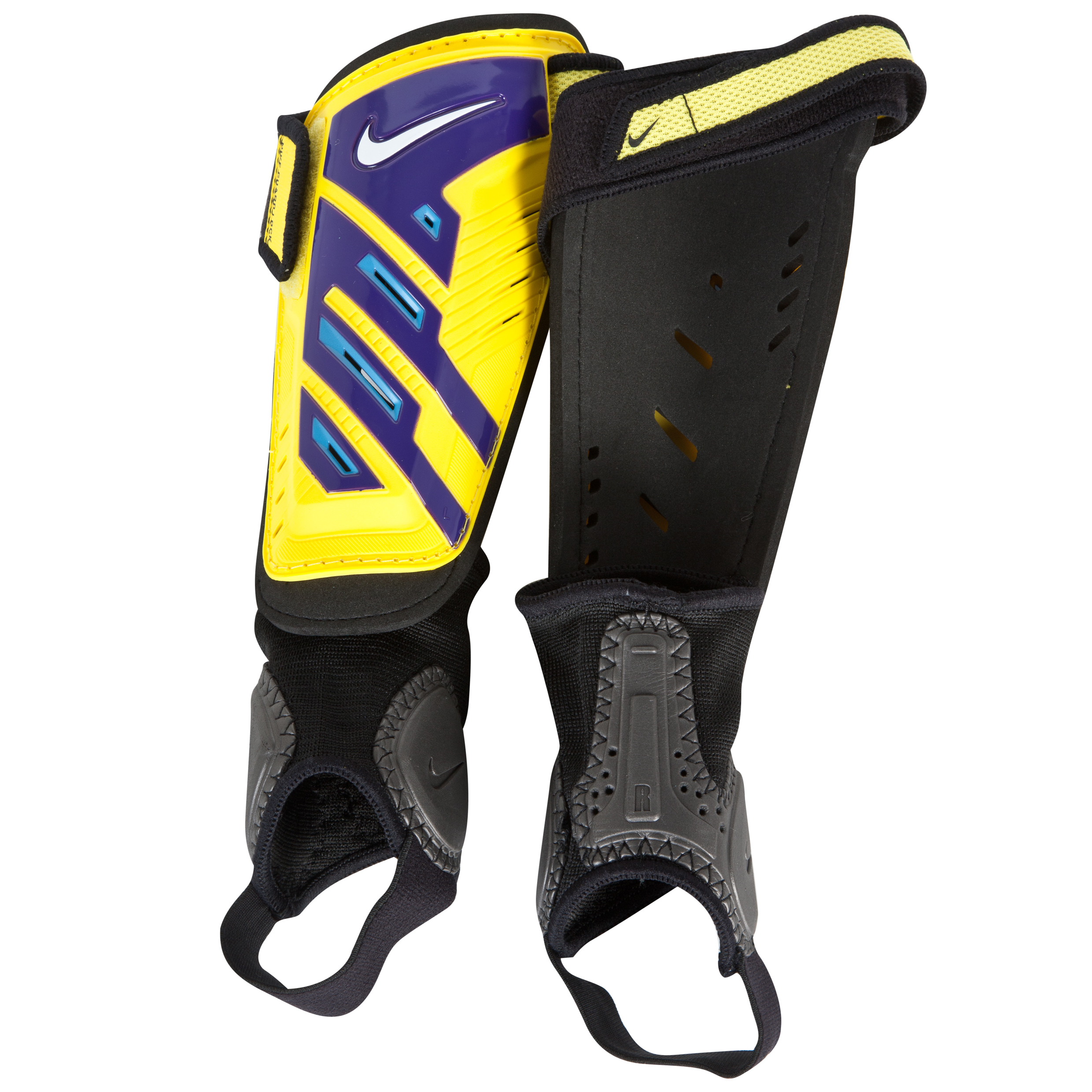 Nike Protegga Shield Shin Pads - Yellow/Purple/(White) - Youth