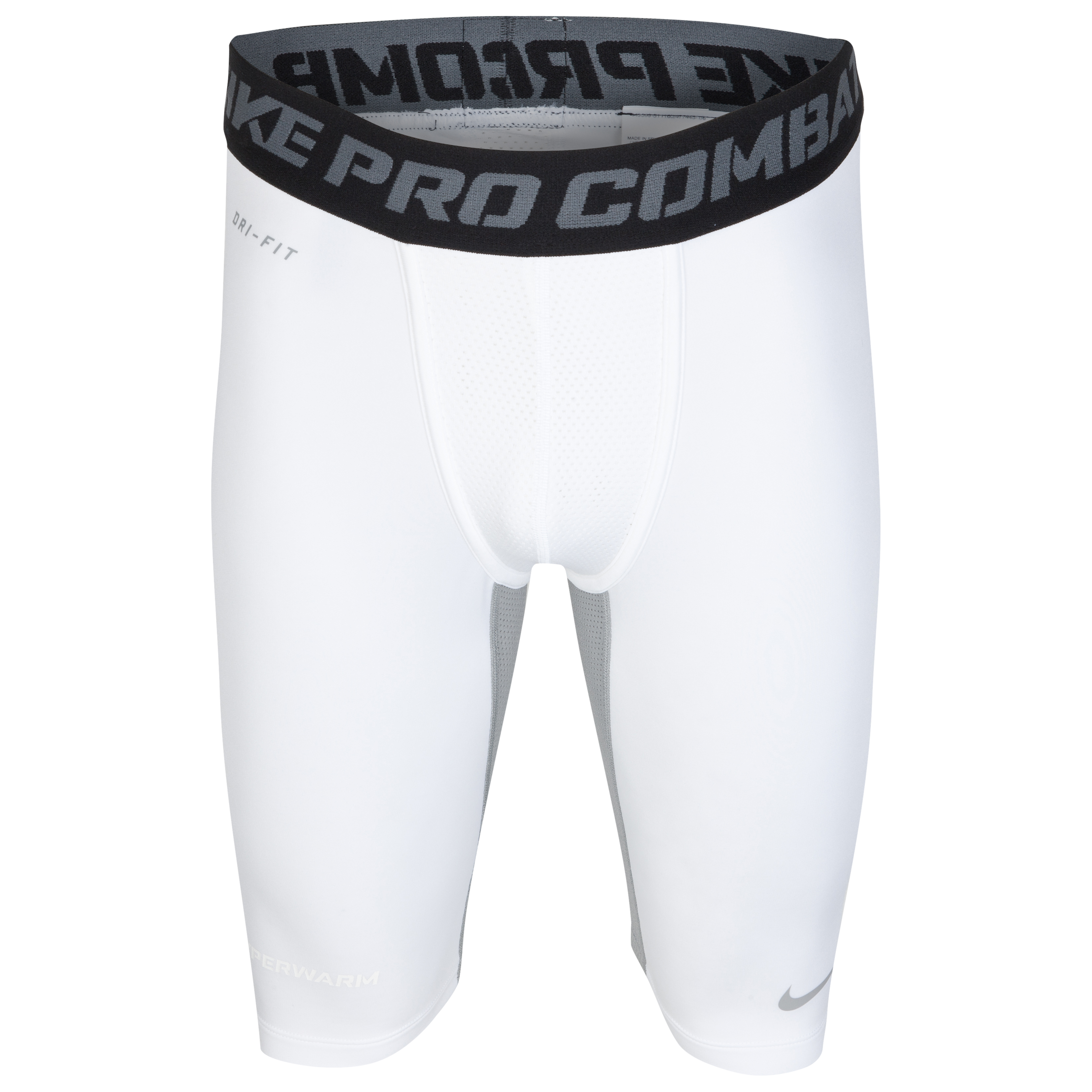 Nike Hyperwarm Hydpull Comp Short - White/Matte Silver/Matte Silver