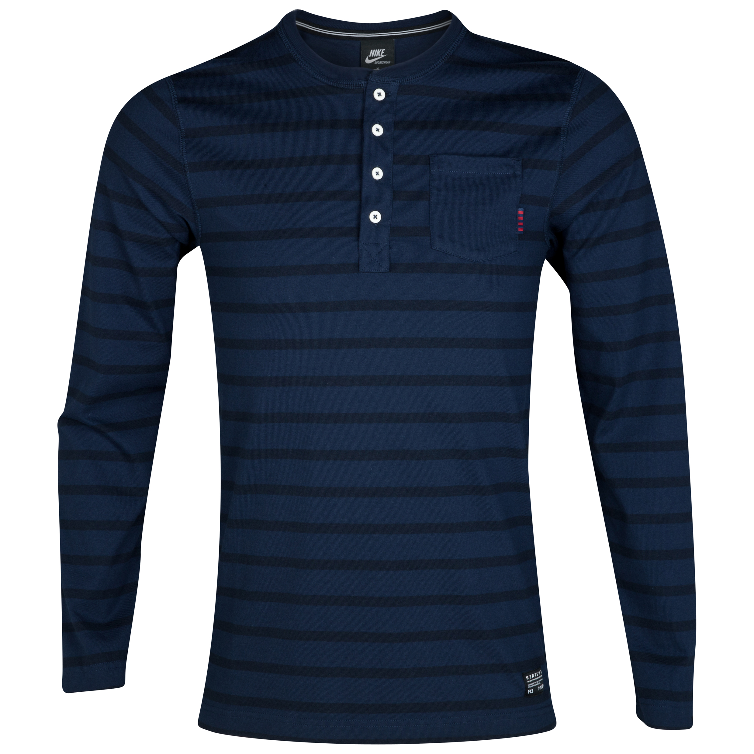 Barcelona NSW Henley Shirt - Long Sleeve - Dark Obsidian/Obsidian