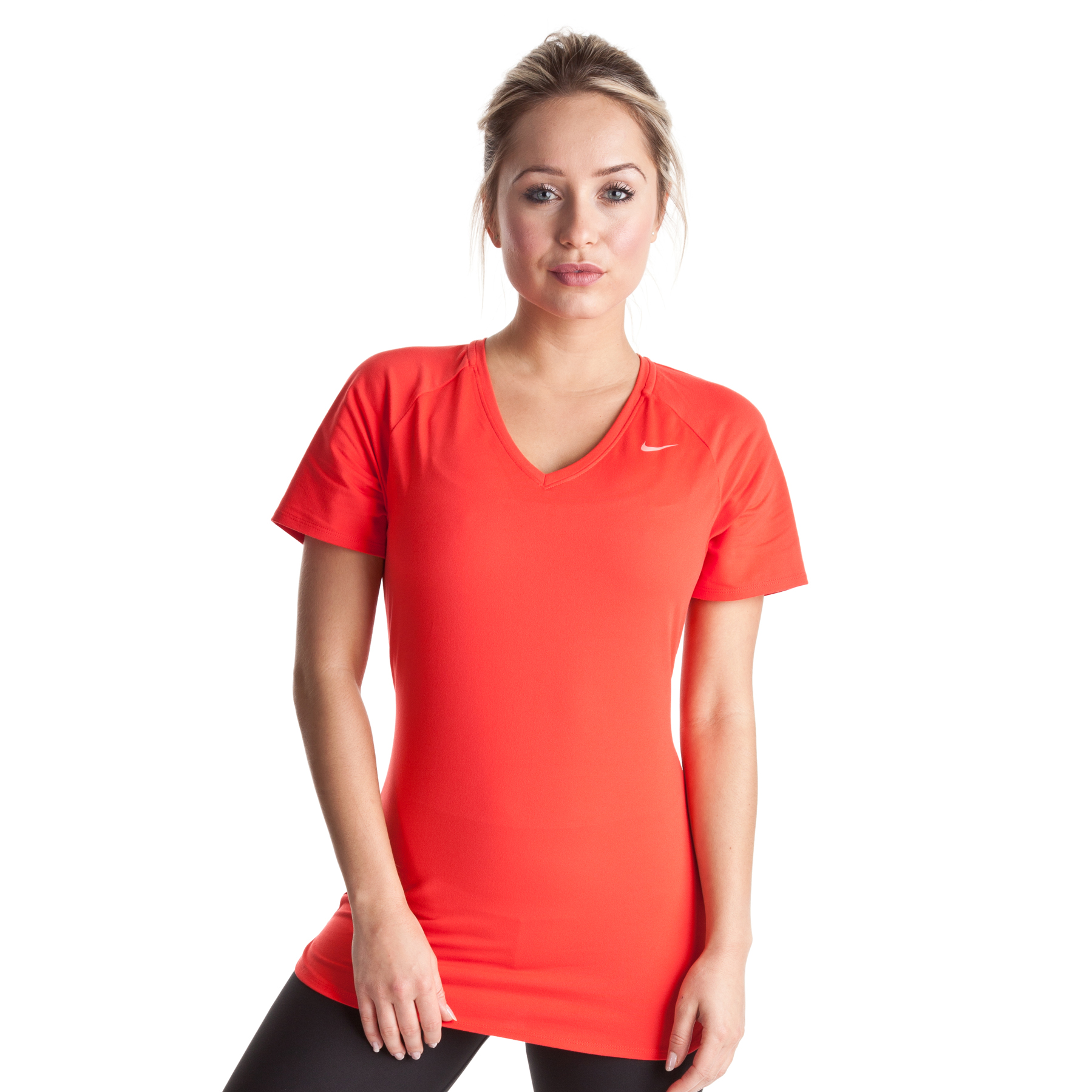 Nike Regular Club Short Sleeve Baselayer - Sunburst/Bright Peach - Womens
