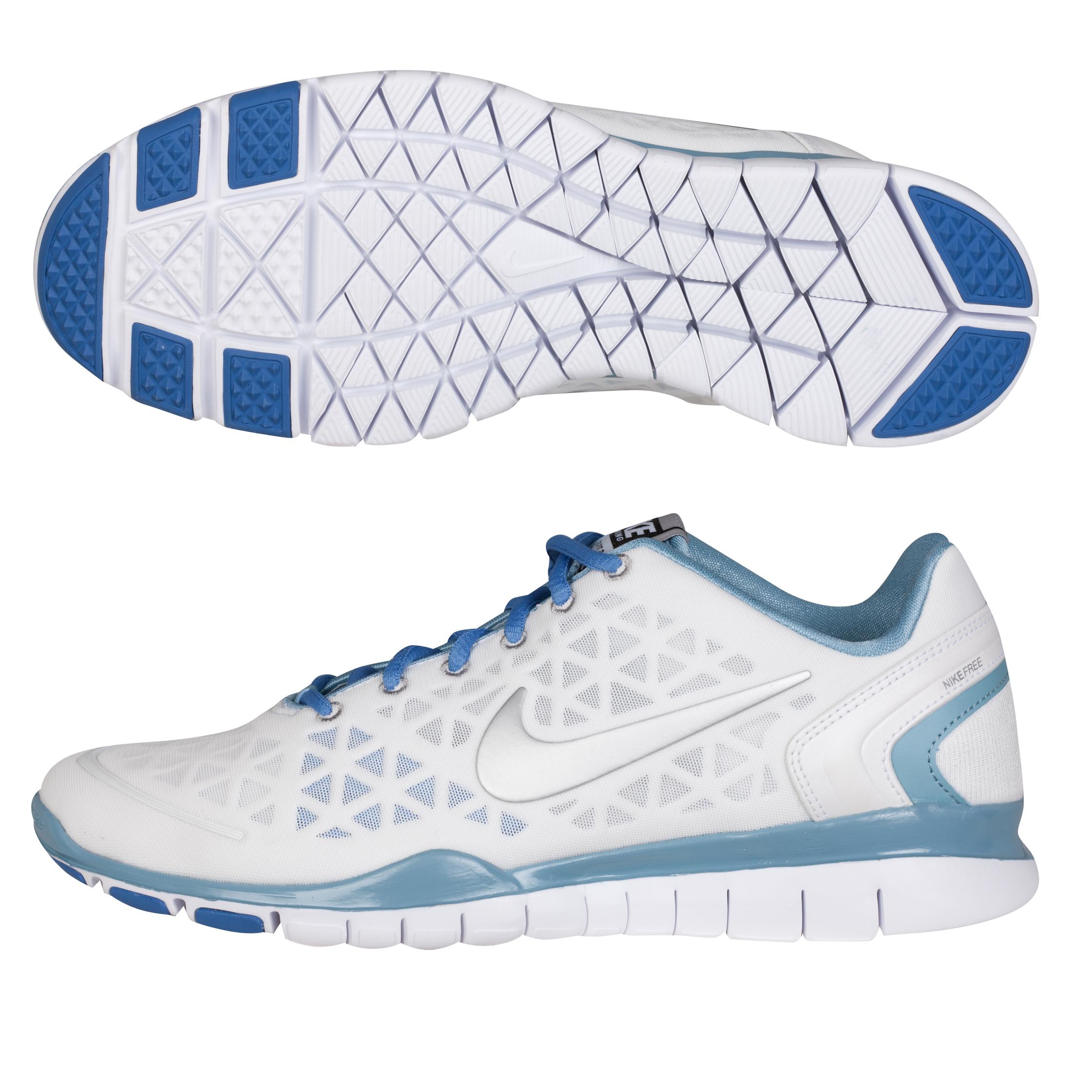 Nike Free Fit 2 Trainer - Wht/Mtllc Slvr-Wrn Bl-Lk - Womens