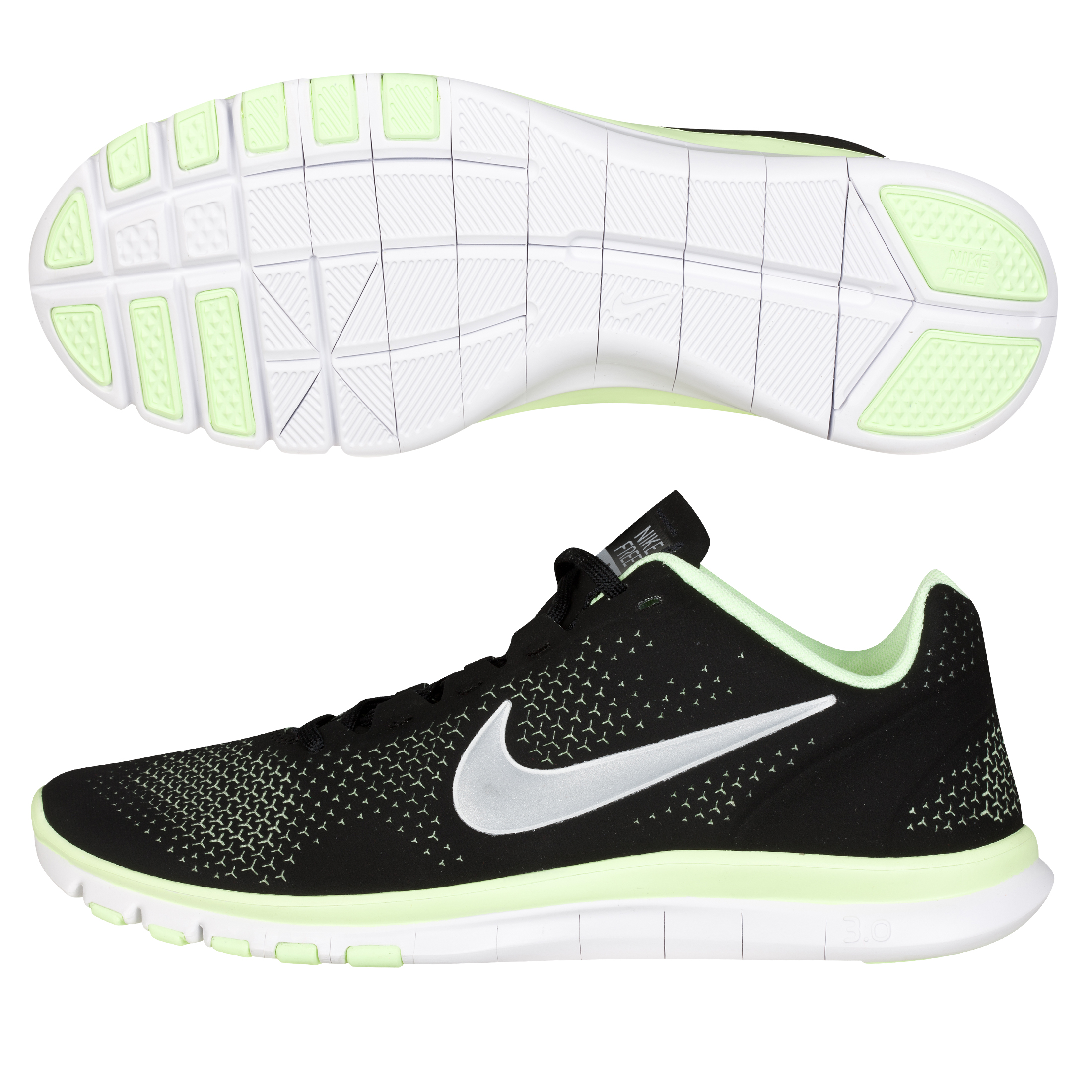 Nike Free Advantage - Black/Metallic Silver - Womens