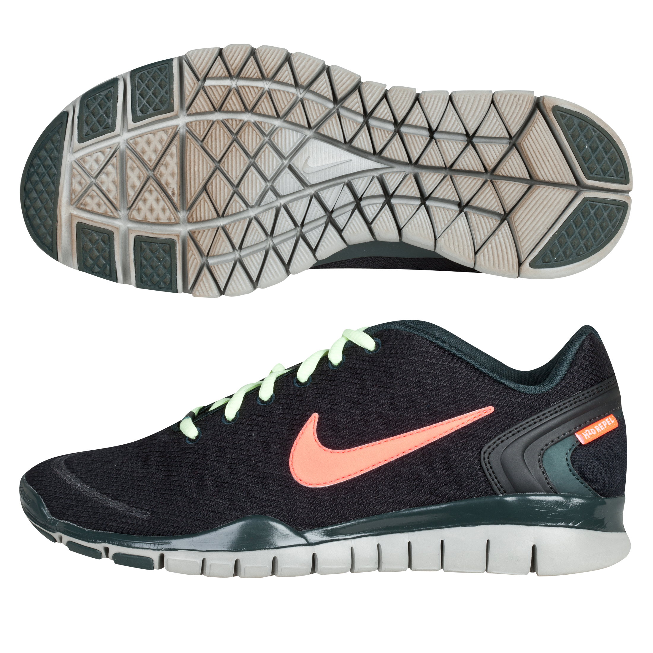 Nike Free Trainer Fit 2 Shield Trainers - Black/Bright Crimson - Womens