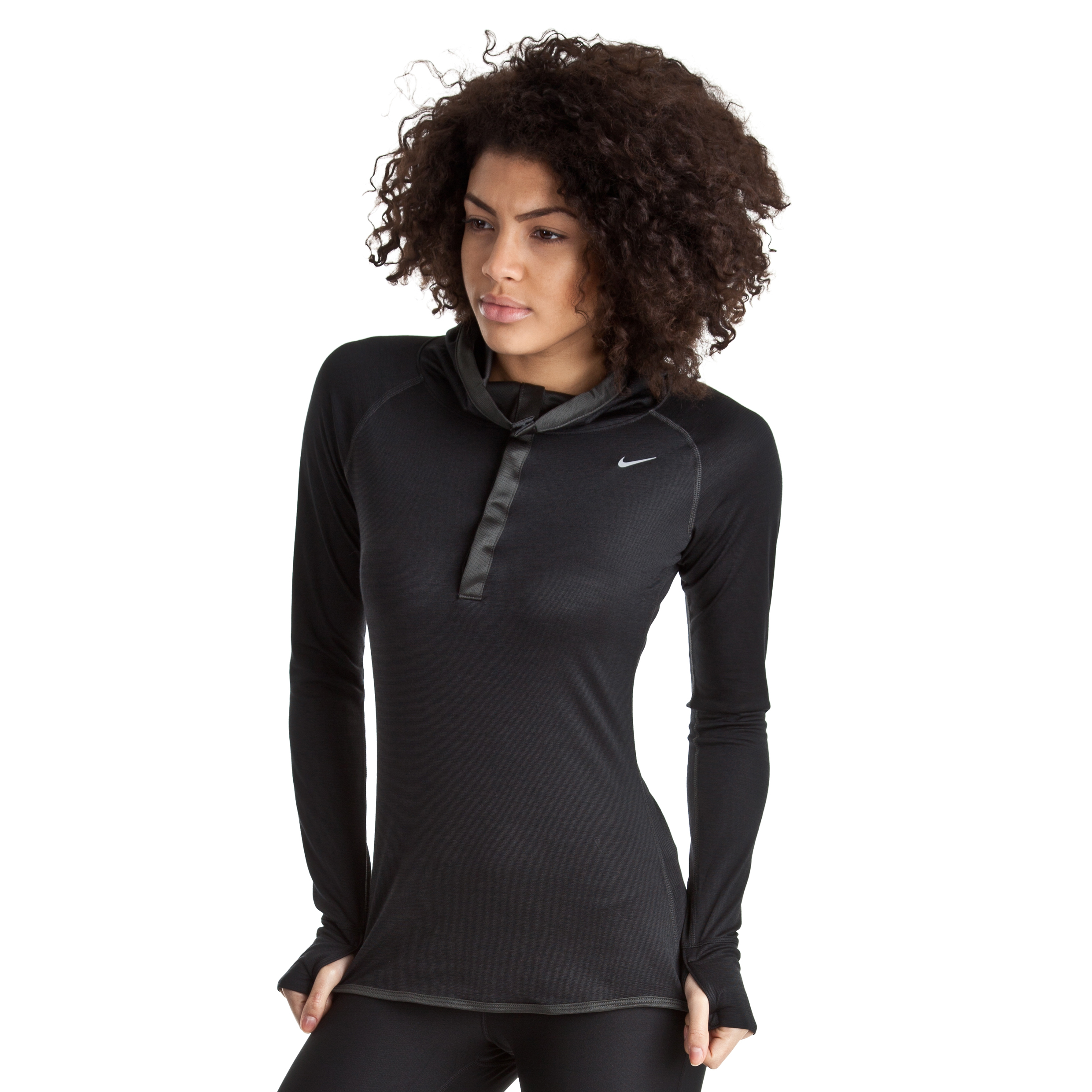 Nike Wool Hoody - Black/Anthracite/Reflective Silv - Womens