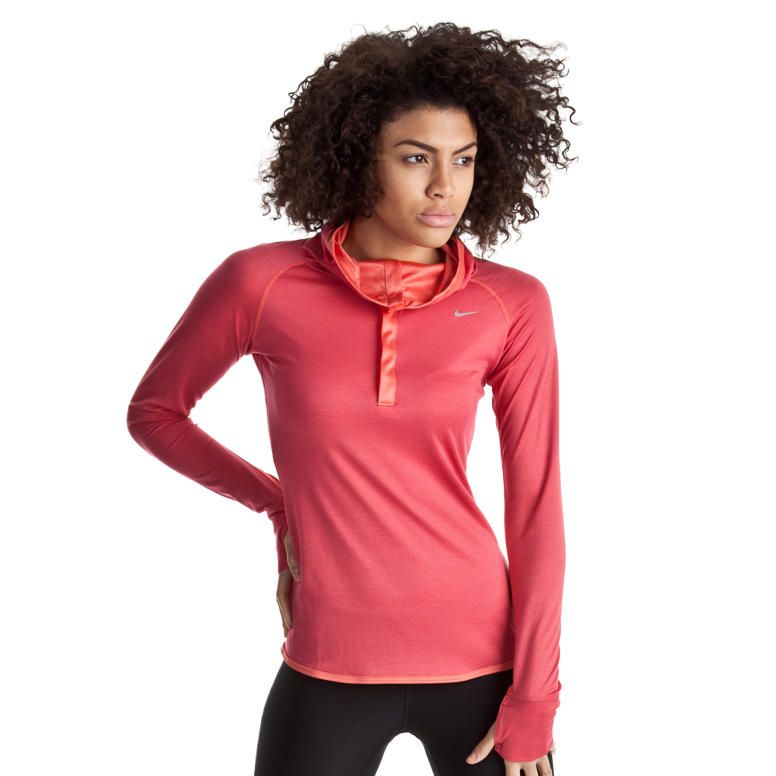 Nike Wool Hoody - Pink Clay/Bright Crimson/Reflective Silv - Womens